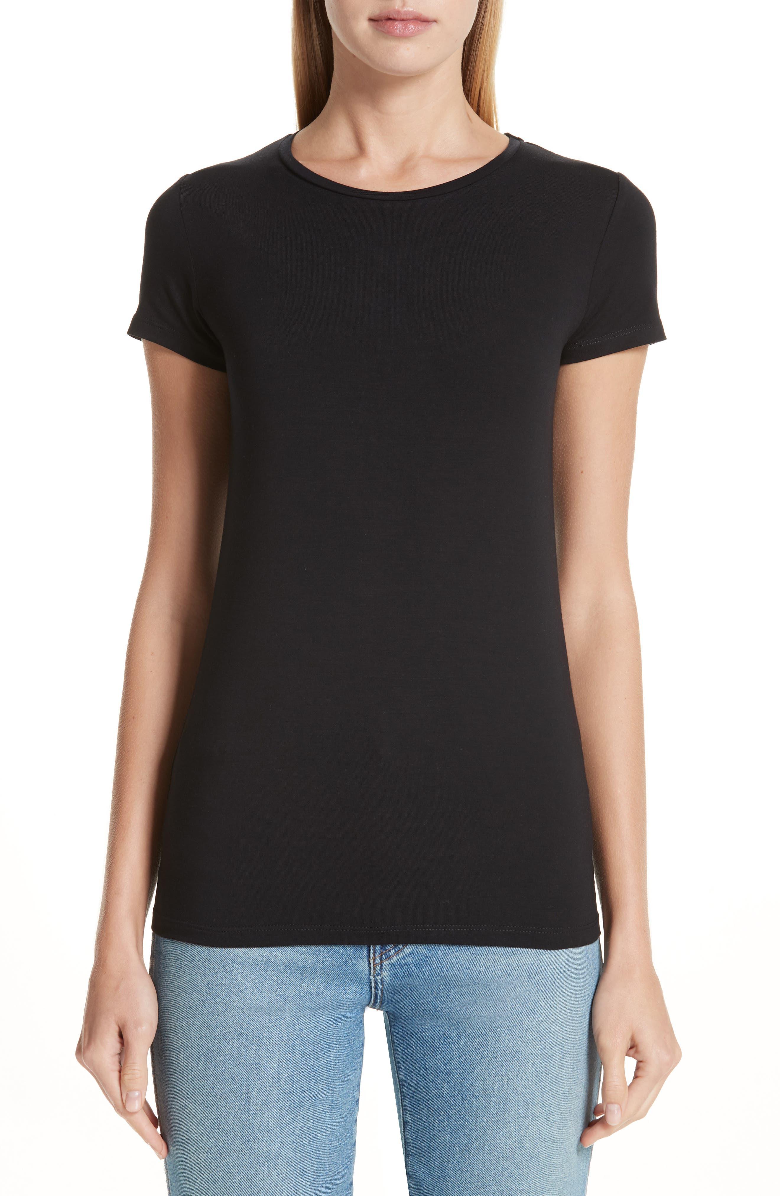 MAJESTIC Soft Touch Short-Sleeve Crewneck T-Shirt in Noir