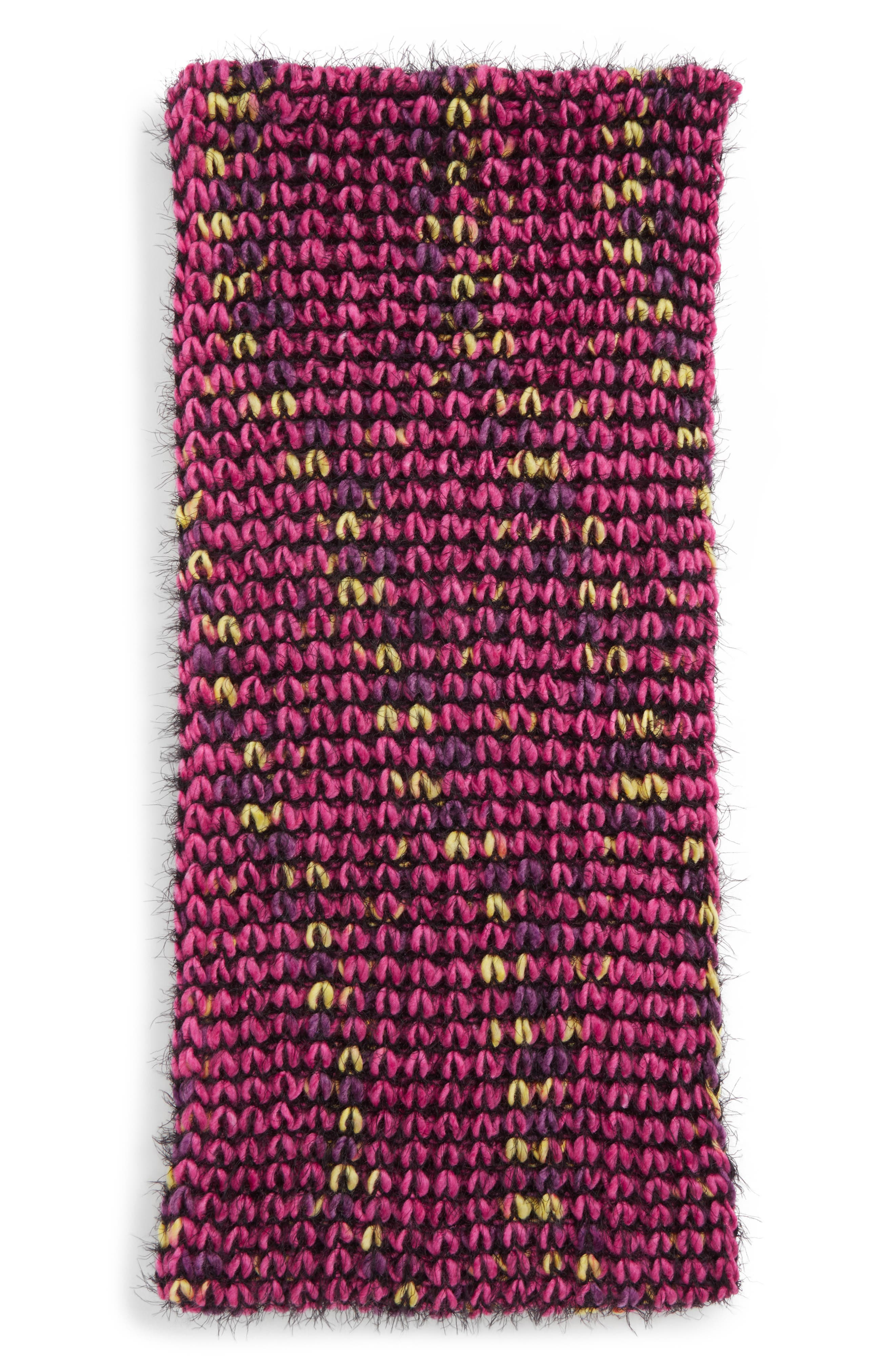 Knit Infinity Scarf,                             Alternate thumbnail 2, color,                             PINK MULTI