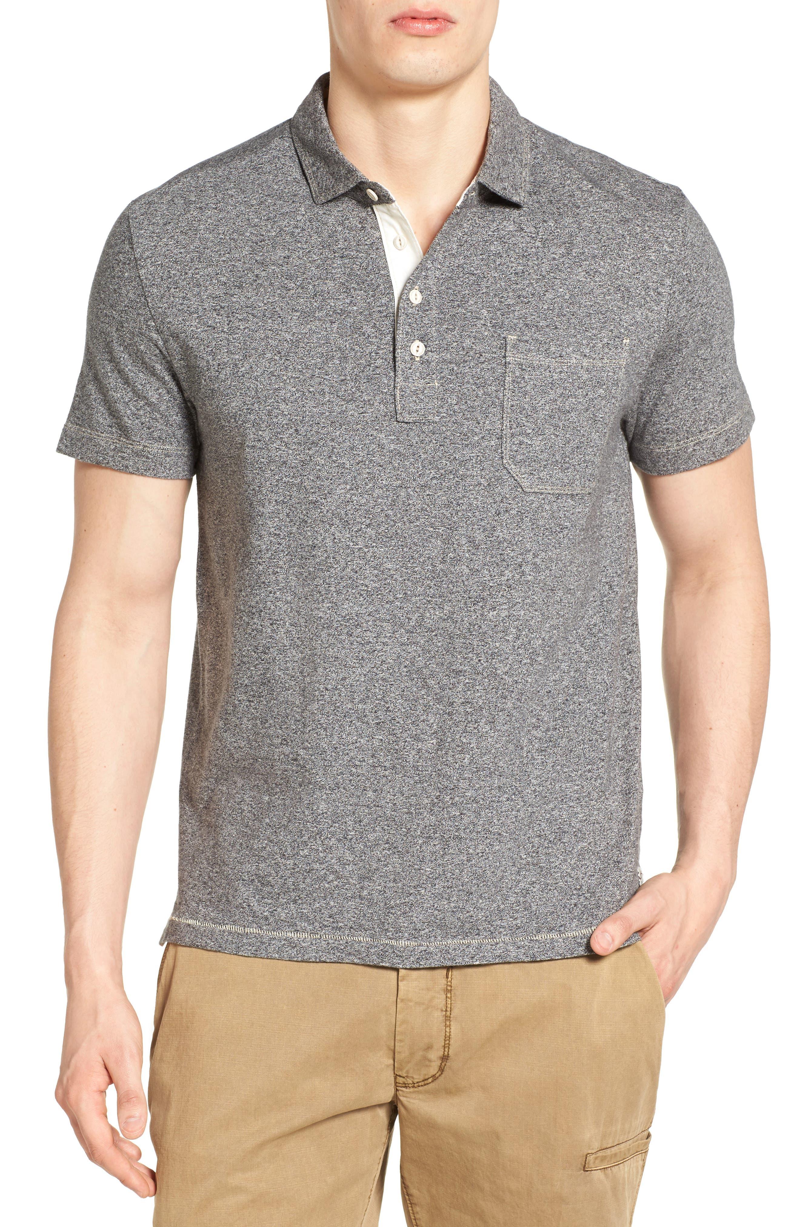 Dixon Twist Yarn Jersey Polo,                         Main,                         color,