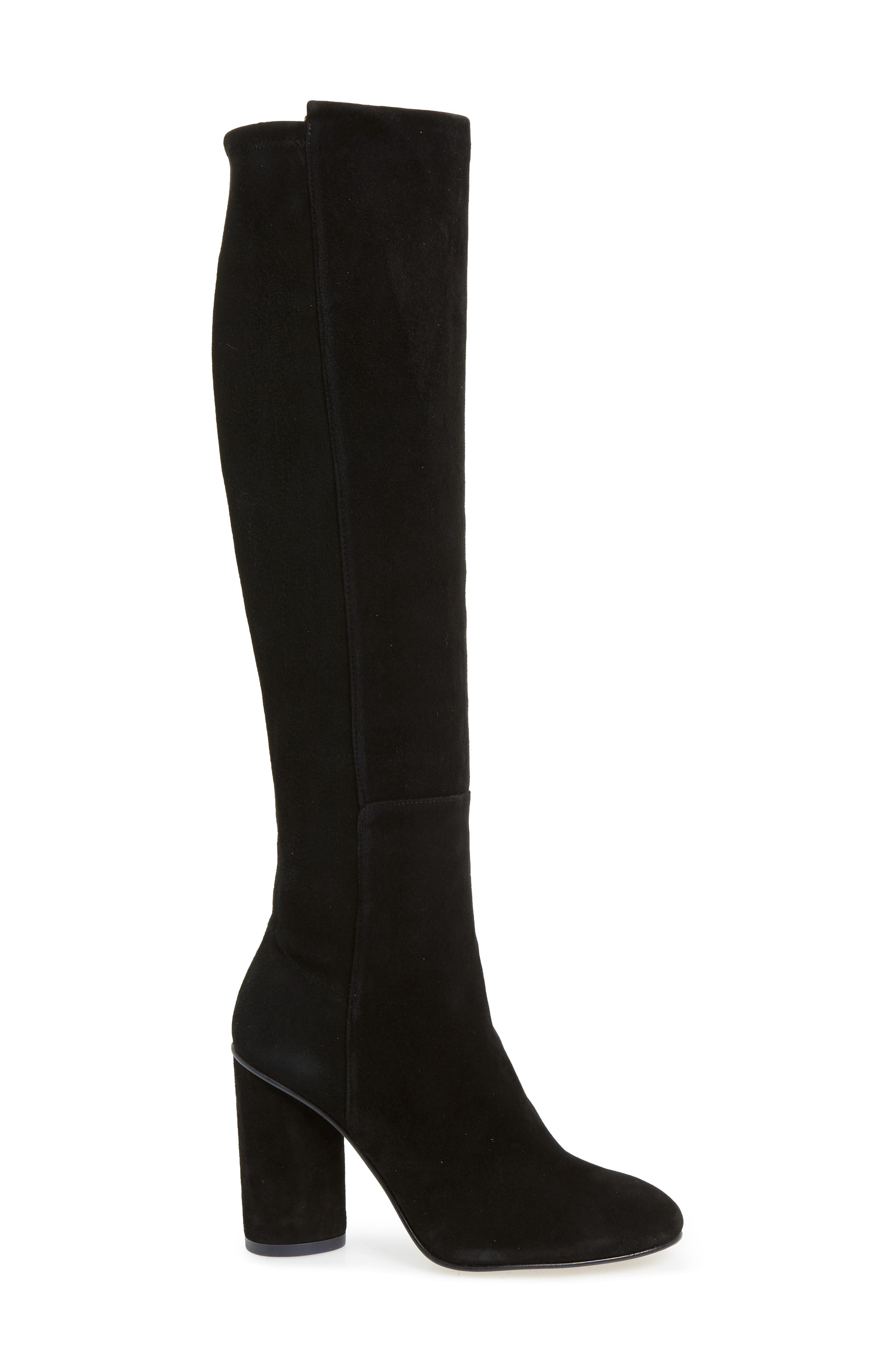 Eloise Over the Knee Boot,                             Alternate thumbnail 3, color,                             BLACK SUEDE