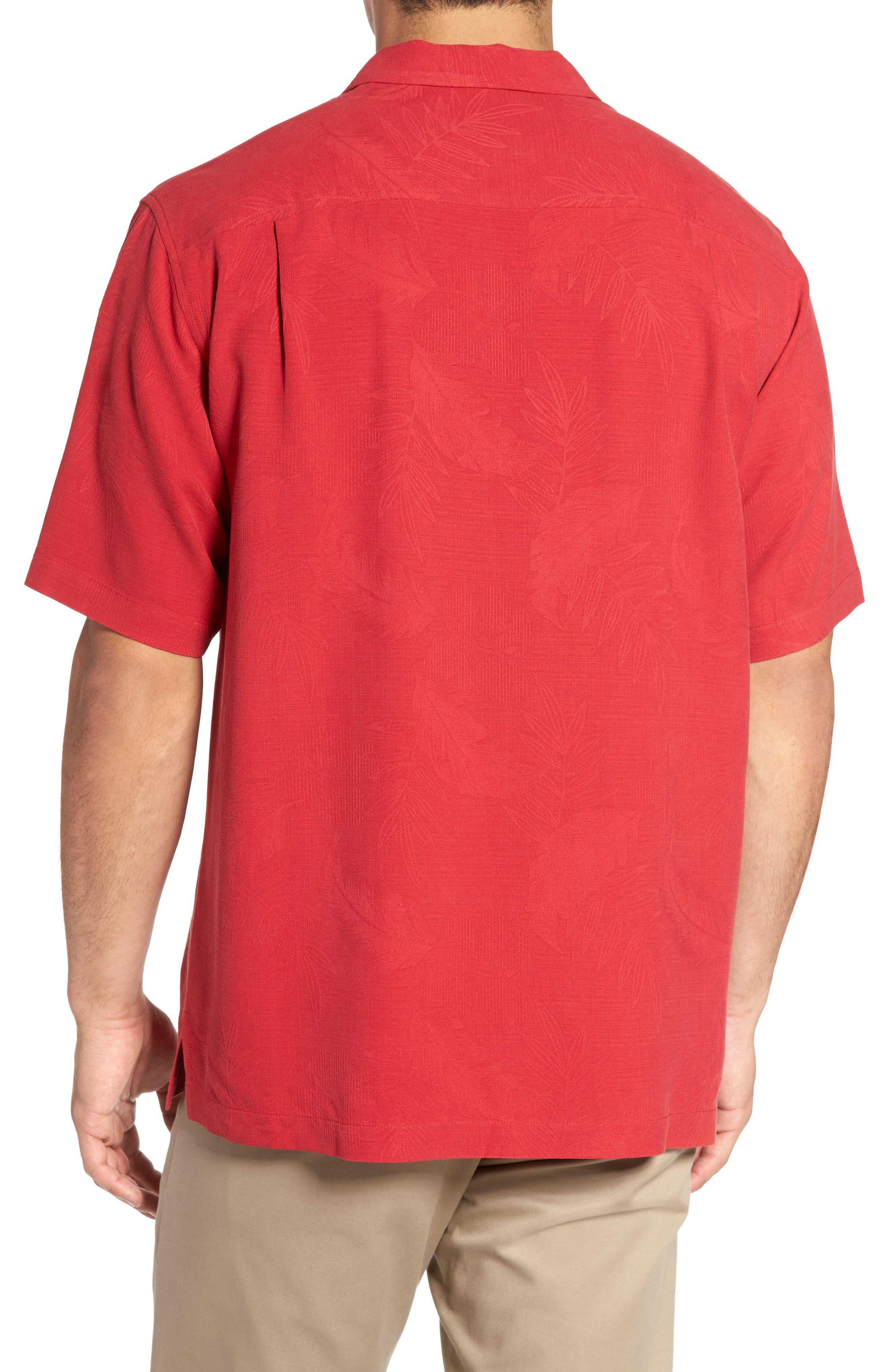 Rio Fronds Short Sleeve Silk Sport Shirt,                             Alternate thumbnail 47, color,