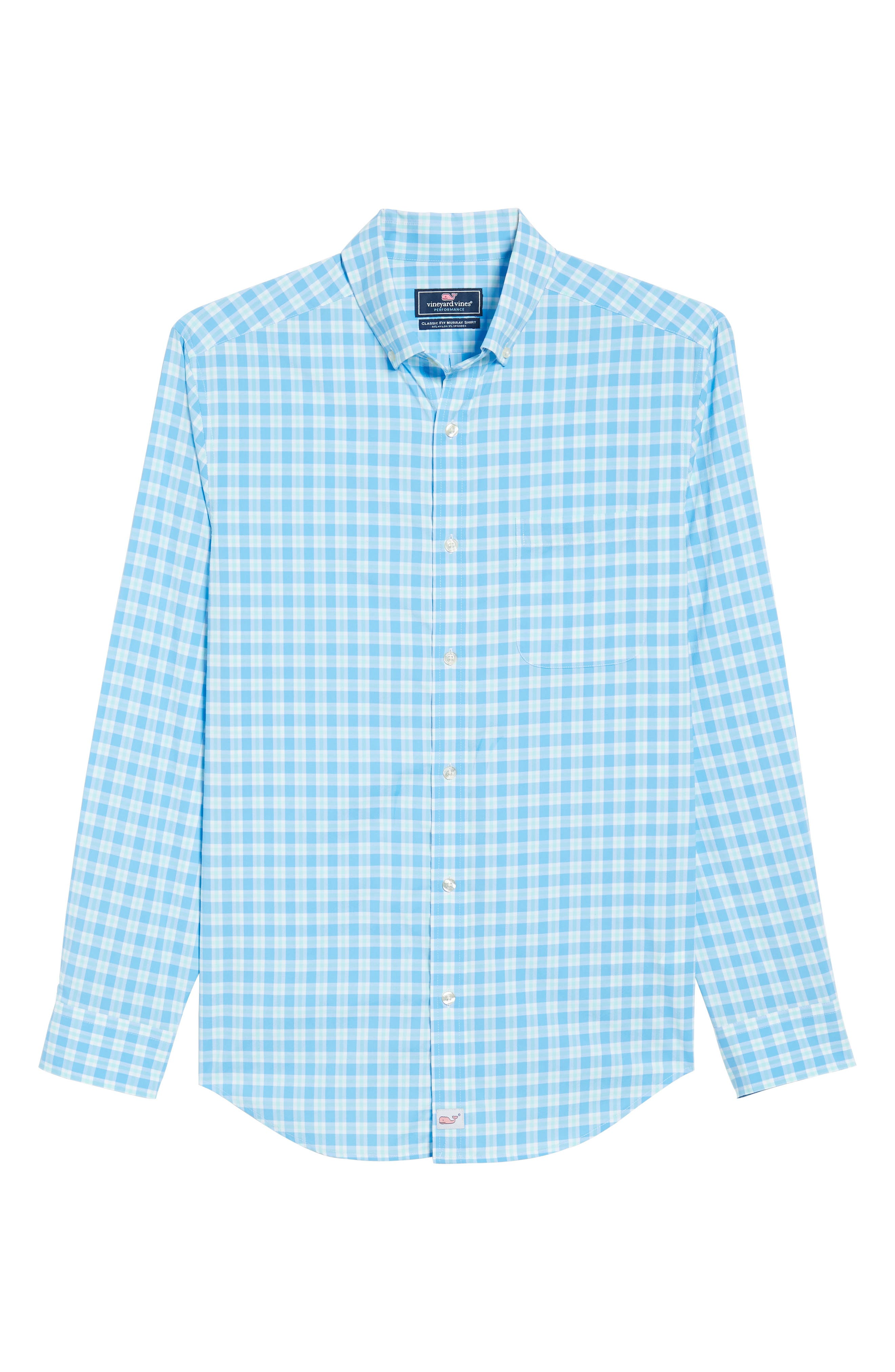 Ocean Beach Classic Fit Stretch Check Sport Shirt,                             Alternate thumbnail 6, color,                             484