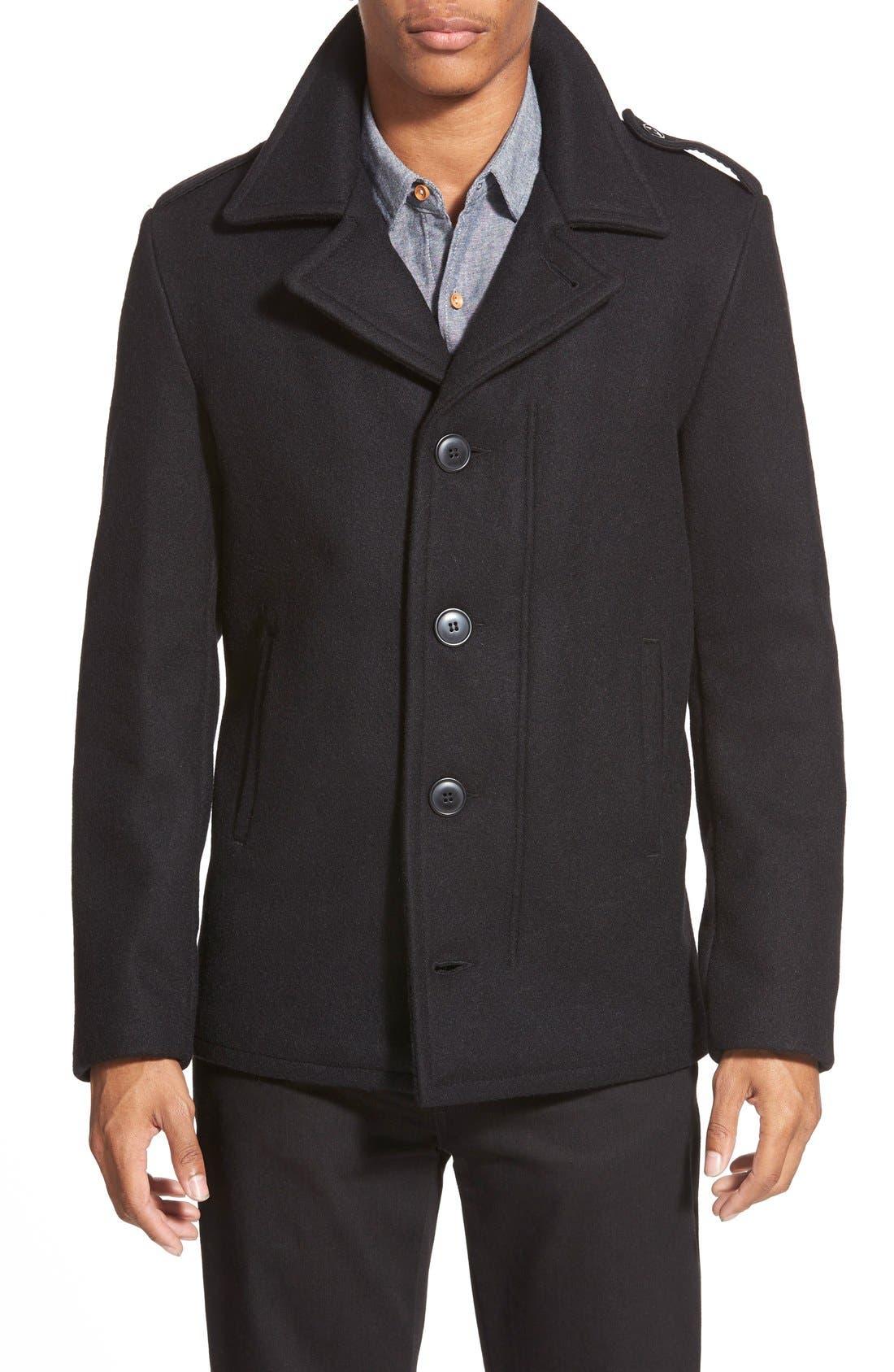 Slim Fit Wool Military Jacket,                         Main,                         color, 001