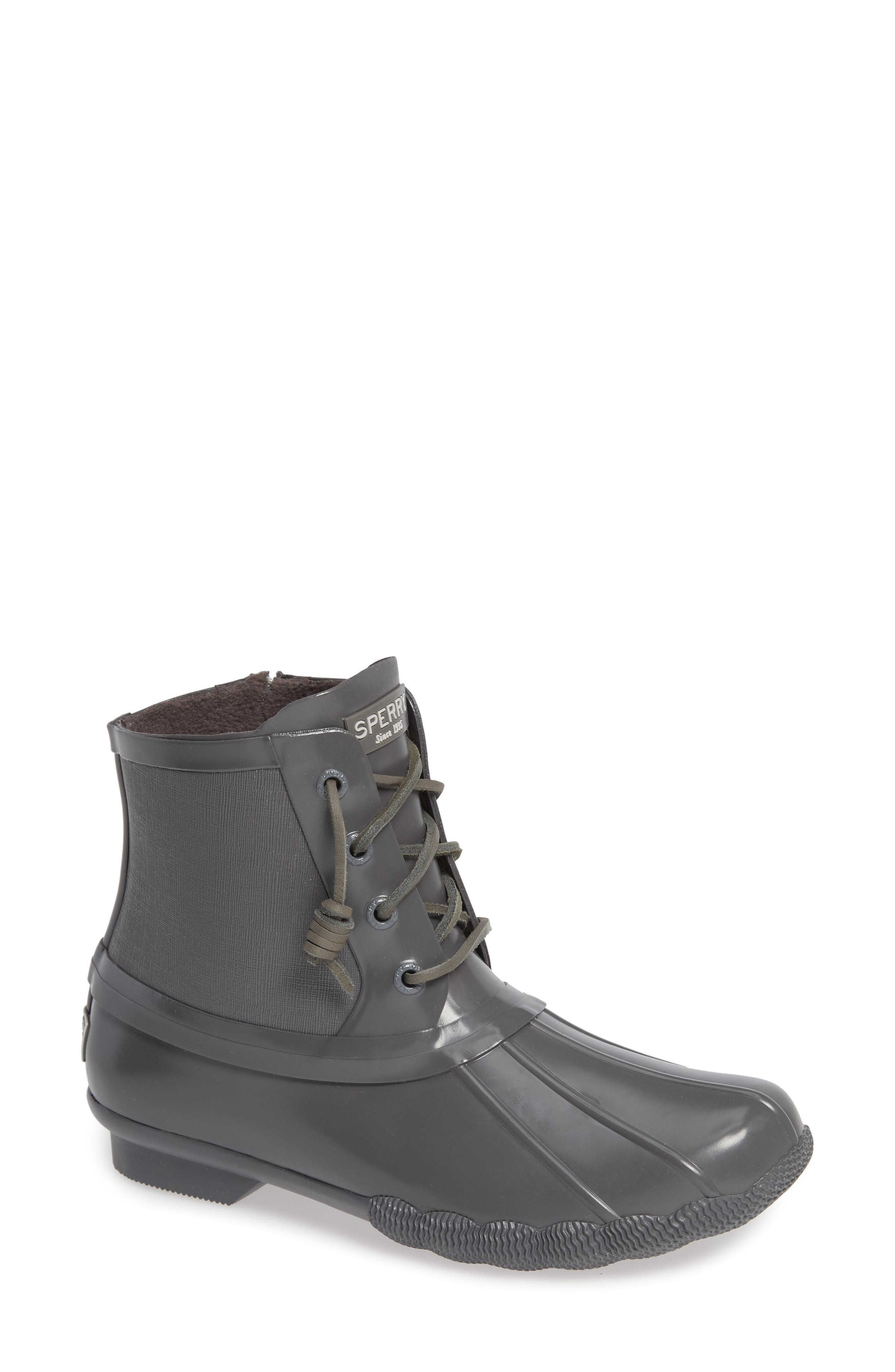 Flooded Rubber Saltwater Bootie,                             Main thumbnail 1, color,                             GREY