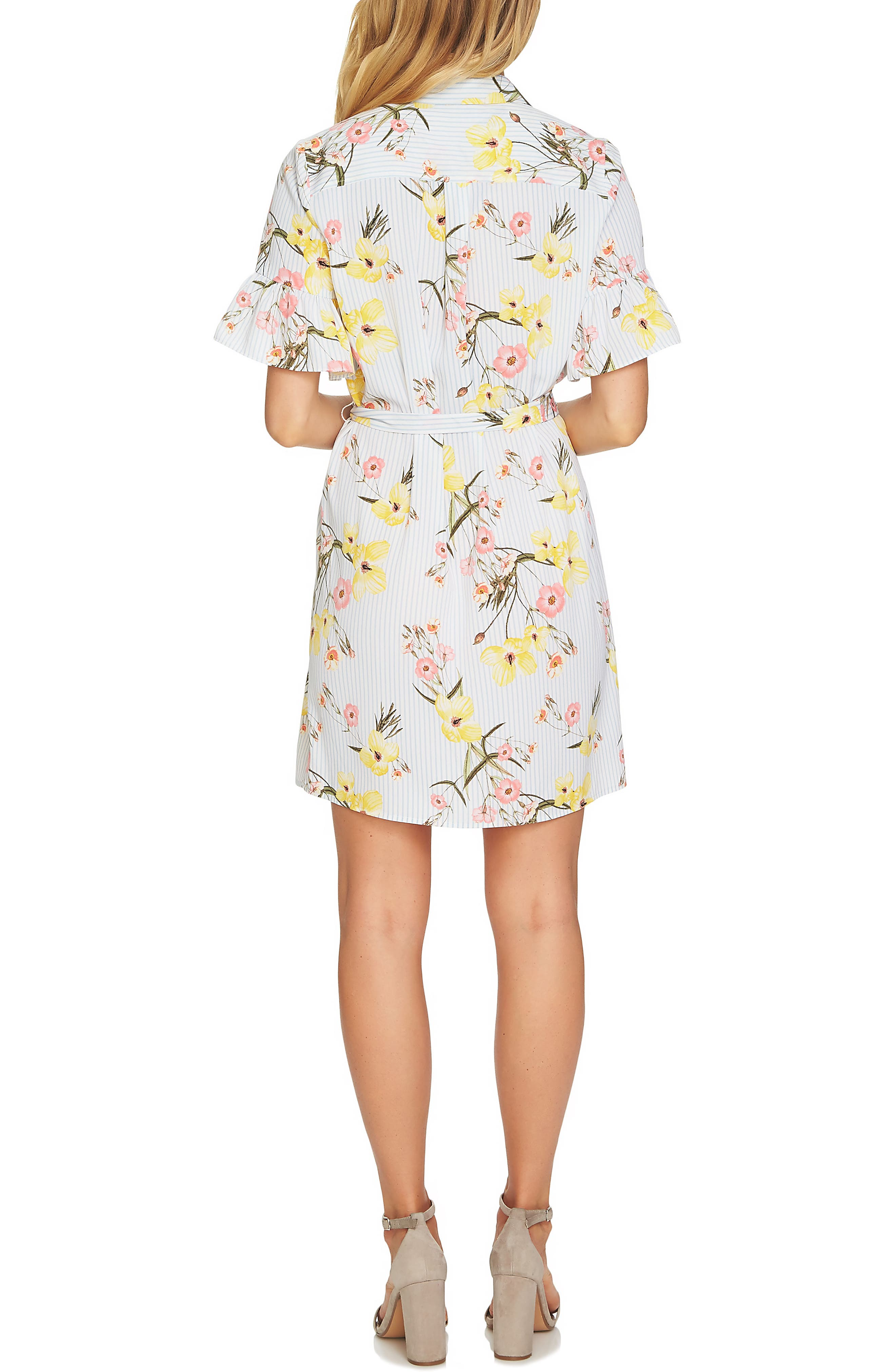 Botanical Blooms Shirtdress,                             Alternate thumbnail 2, color,                             145