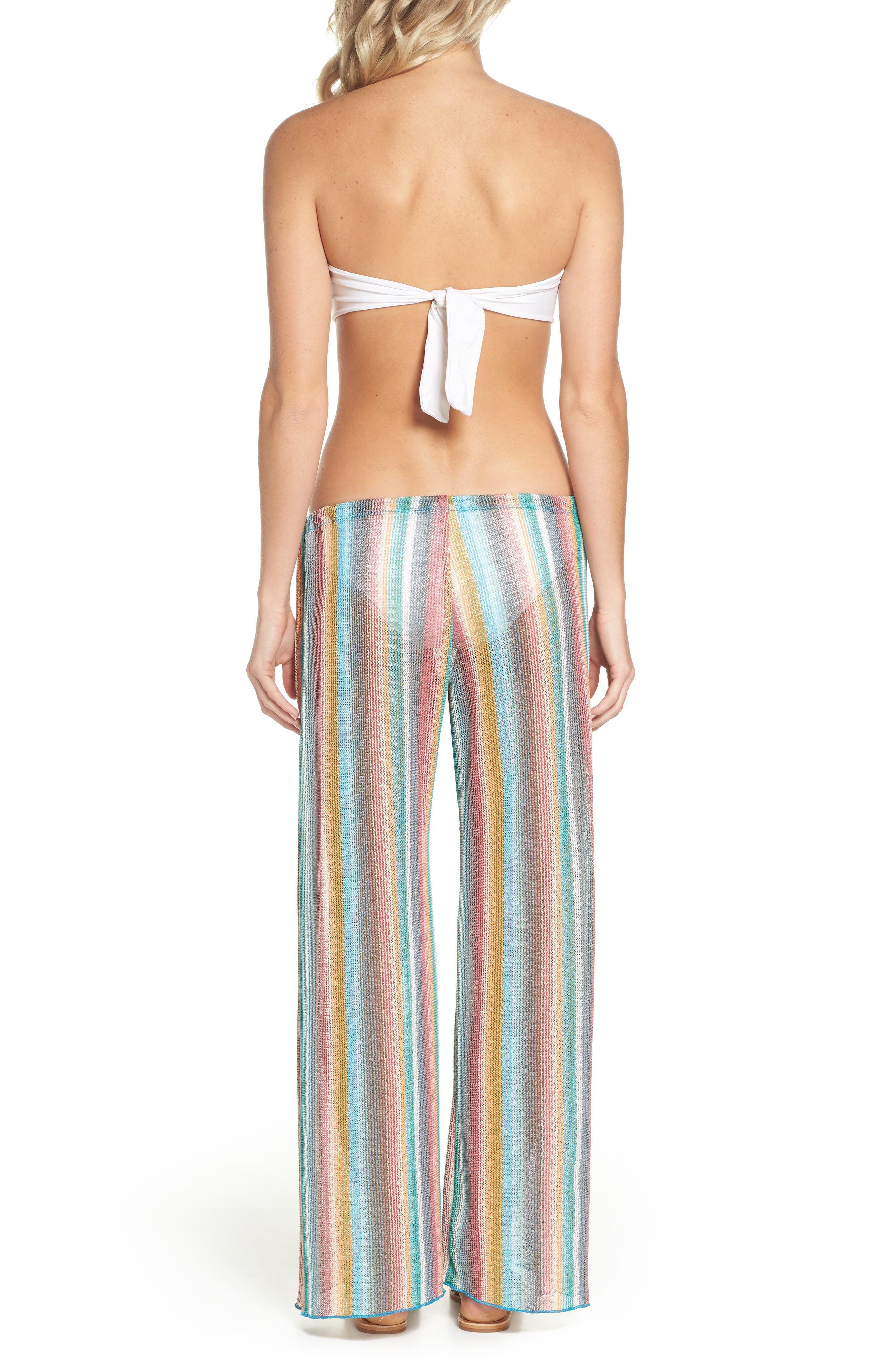 Seville Cover-Up Pants,                             Alternate thumbnail 2, color,                             ORANGE MULTI
