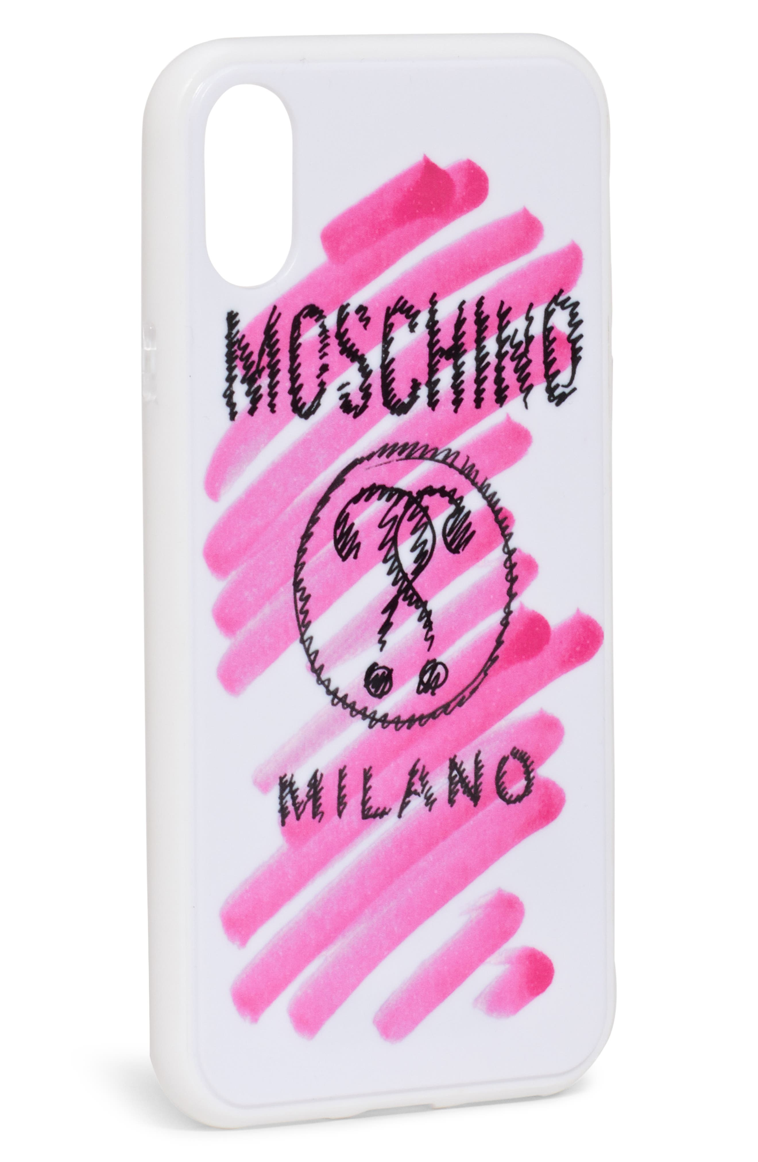 MOSCHINO,                             Scribble Logo iPhone Xs/Xs Max & XR Case,                             Alternate thumbnail 2, color,                             100