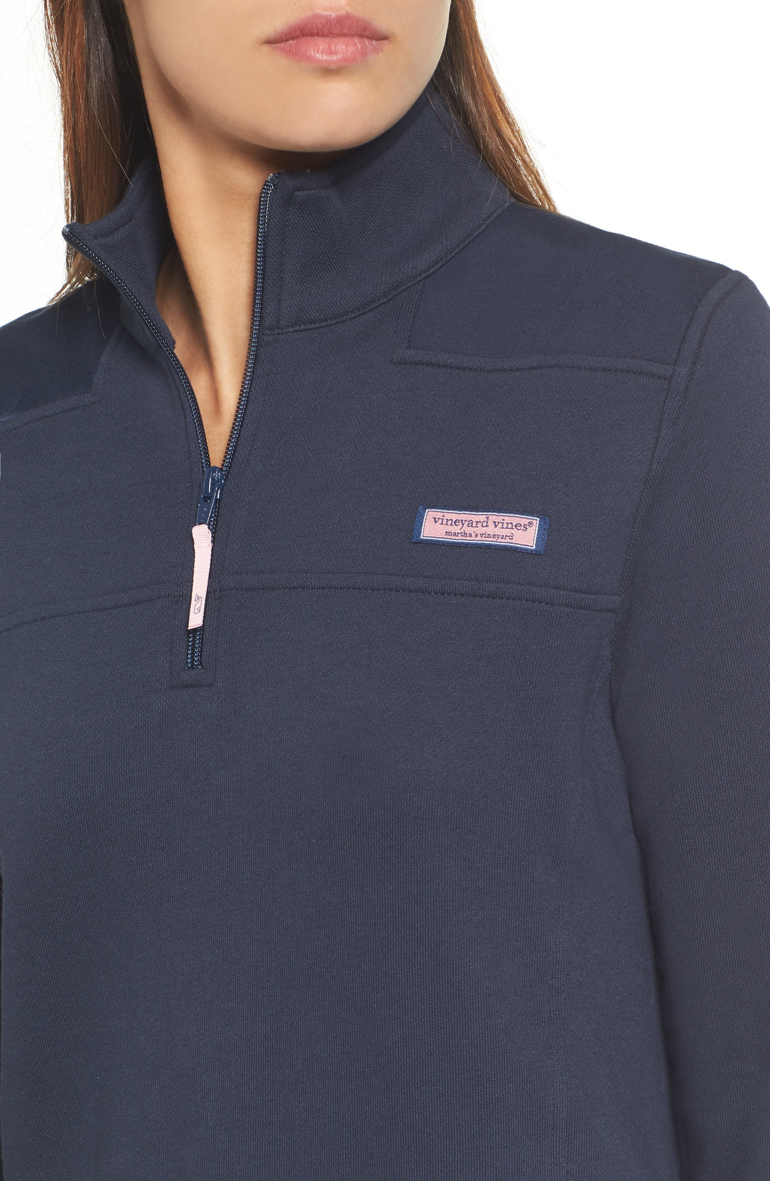 Shep Half Zip French Terry Pullover,                             Alternate thumbnail 4, color,                             VINEYARD NAVY
