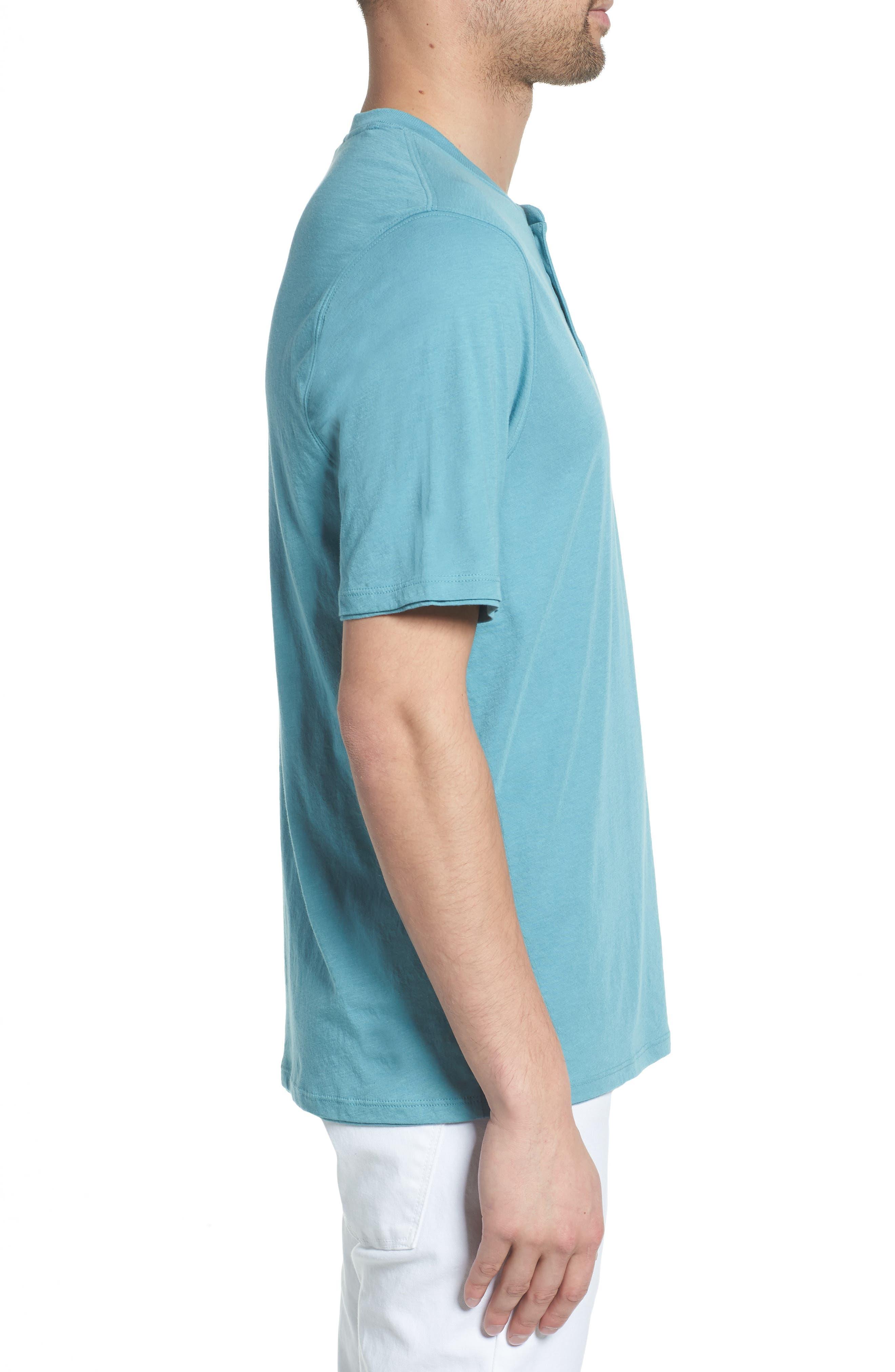 Layered Henley T-Shirt,                             Alternate thumbnail 3, color,                             HARBOR