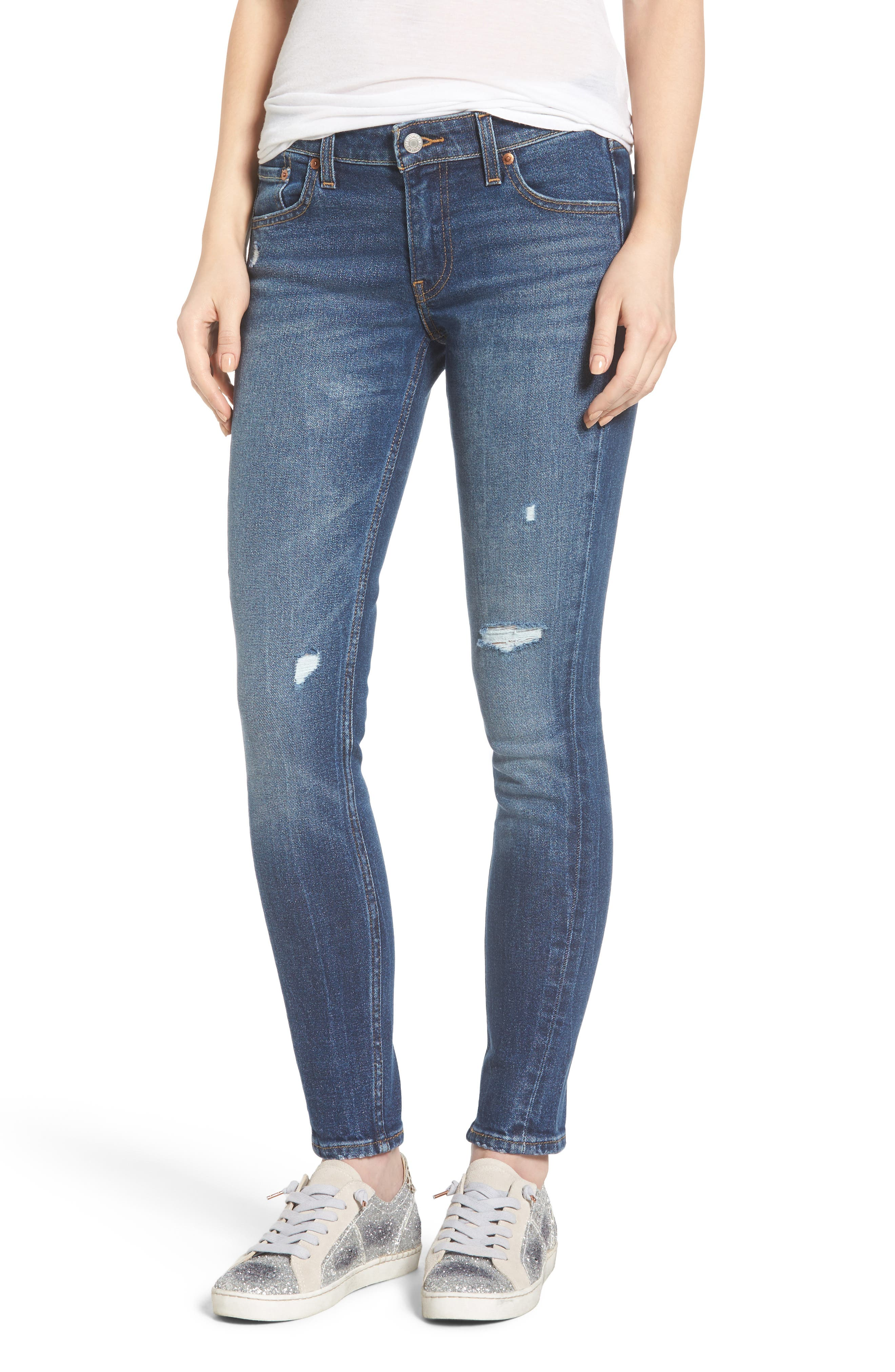 711 Ripped Skinny Jeans,                         Main,                         color, 421