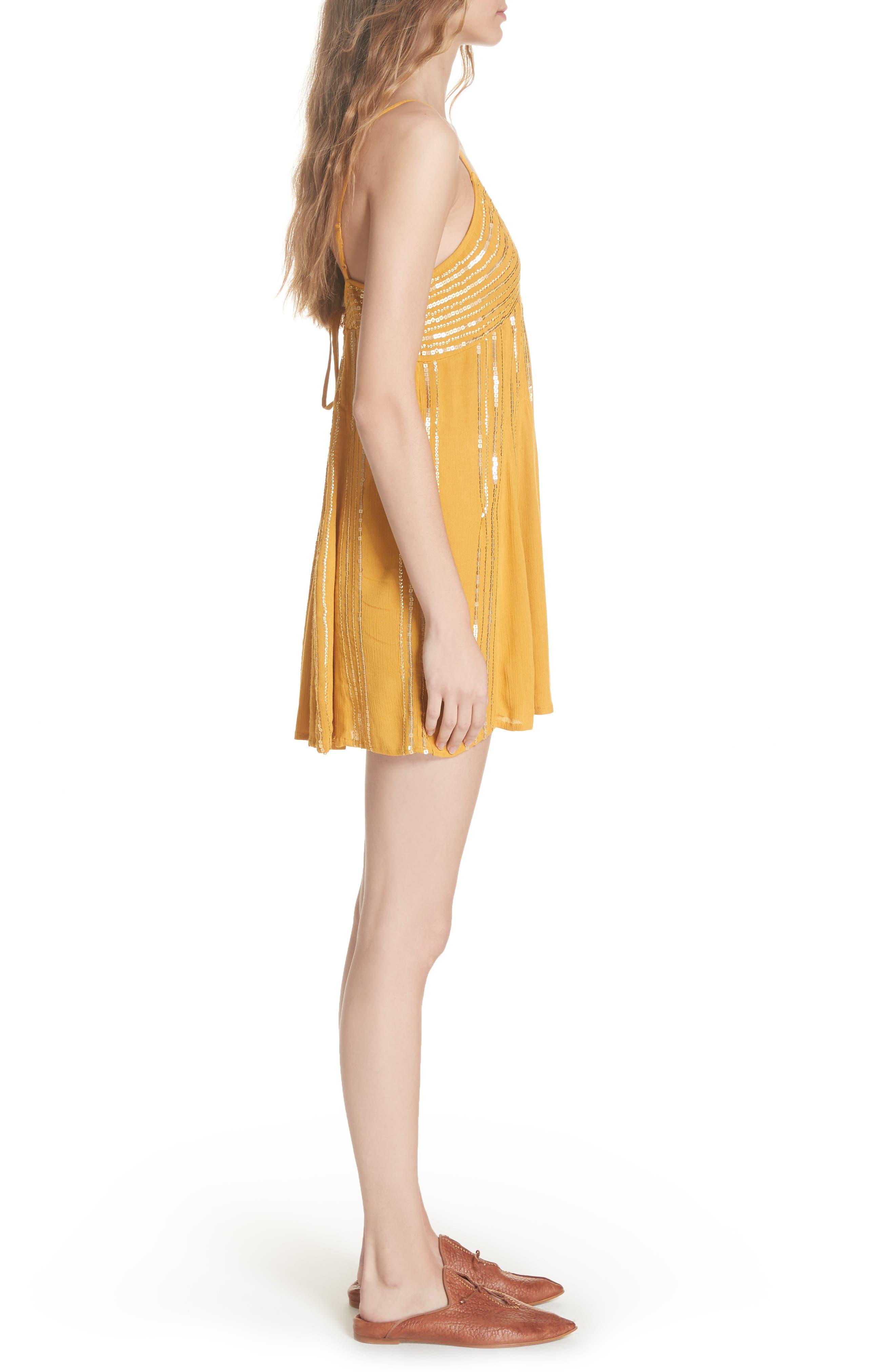 Here She Is Embellished Swing Minidress,                             Alternate thumbnail 3, color,                             710