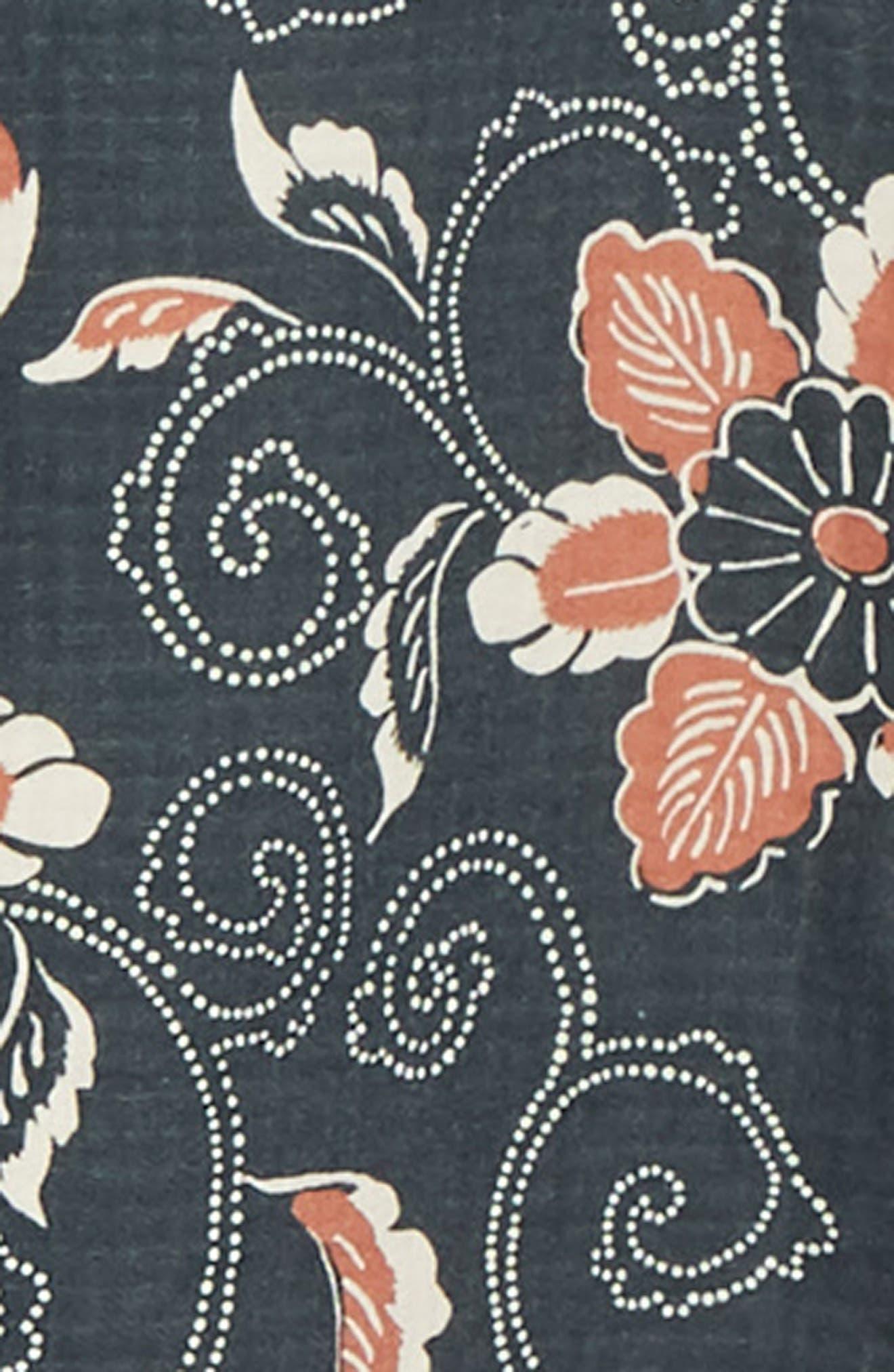 Classic Fit Double Face Floral Print Sport Short,                             Alternate thumbnail 6, color,                             COASTAL