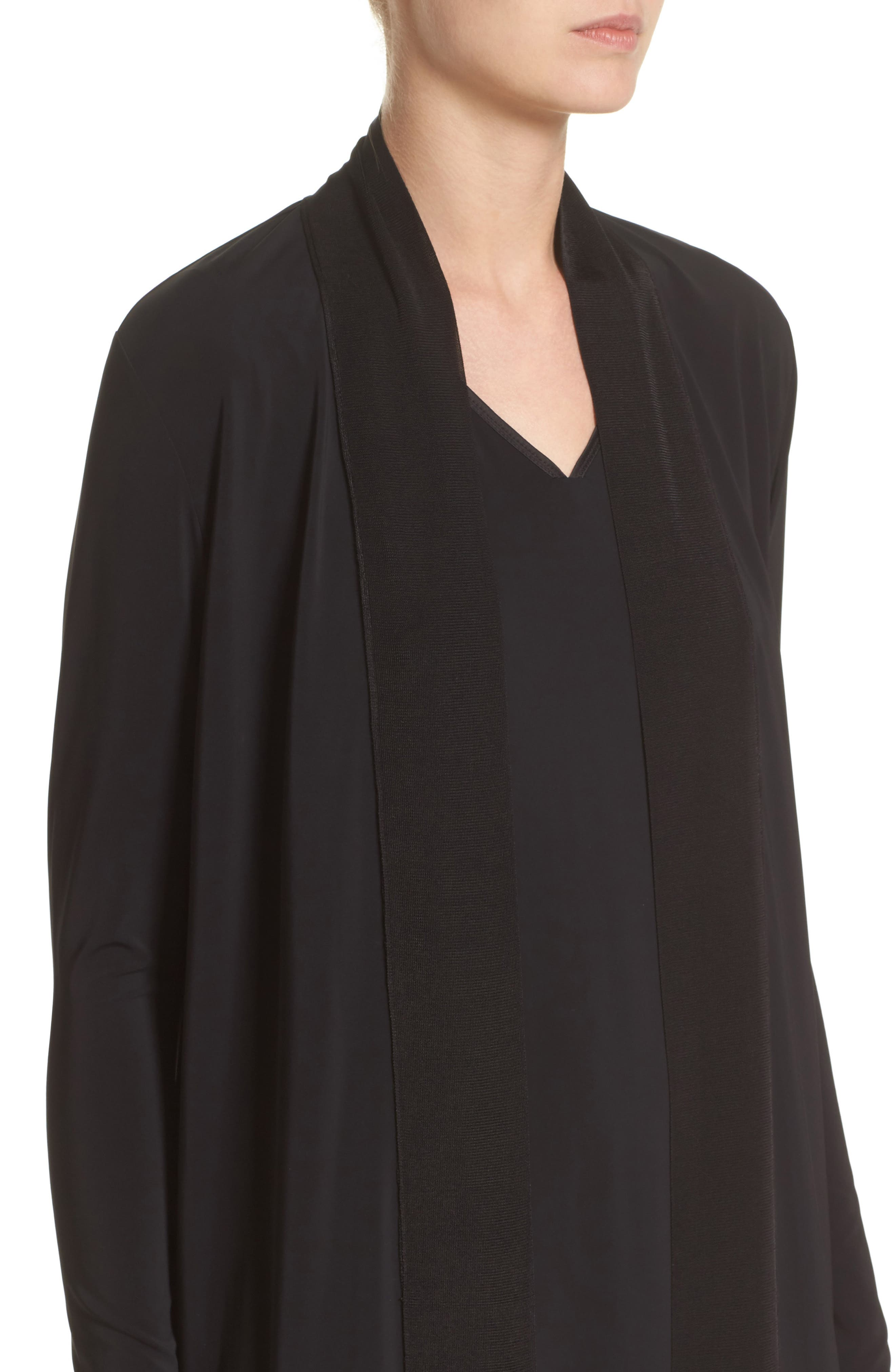 Cultivated Crepe Jersey Duster,                             Alternate thumbnail 4, color,                             001
