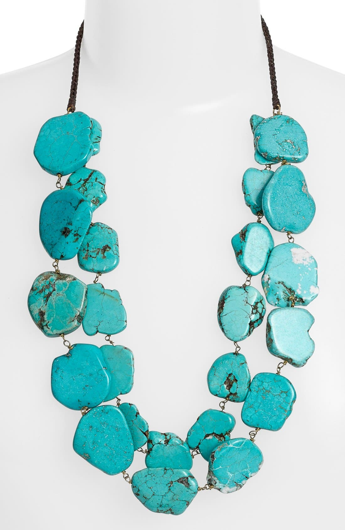 Chunky Double Row Howlite Necklace,                             Alternate thumbnail 2, color,                             440