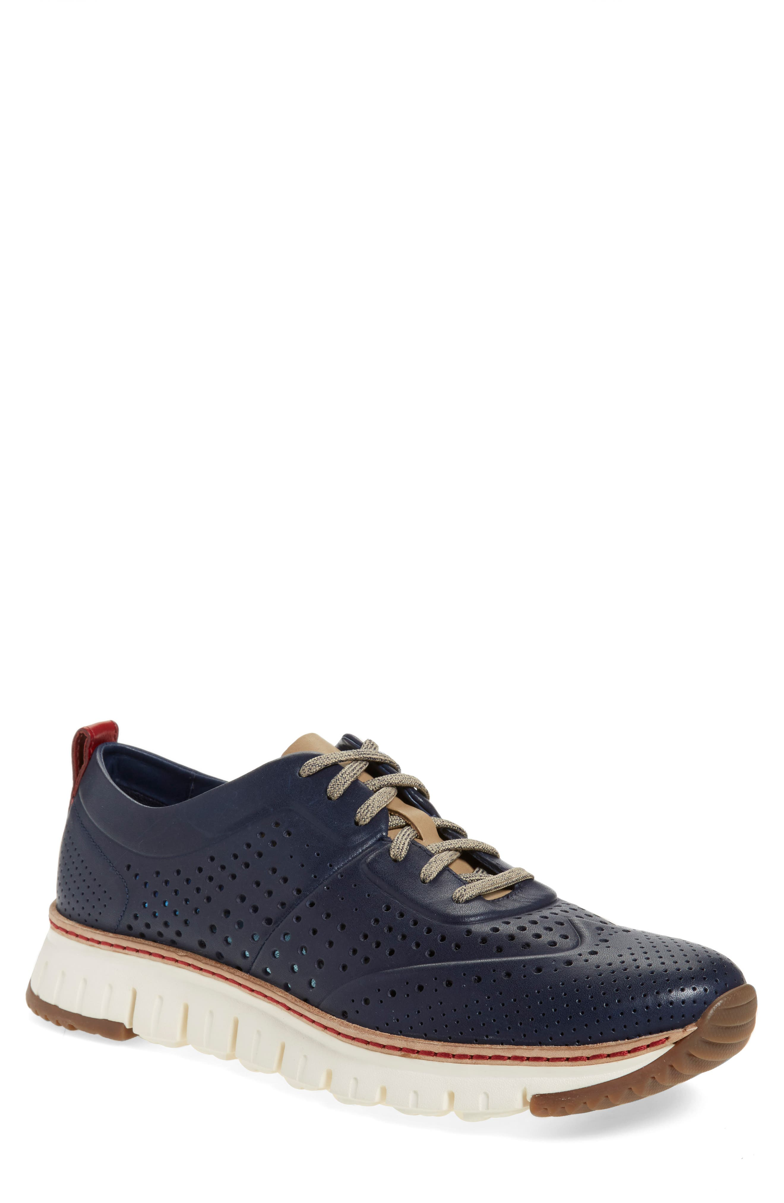 COLE HAAN,                             'ZerøGrand' Perforated Wingtip Sneaker,                             Alternate thumbnail 3, color,                             400