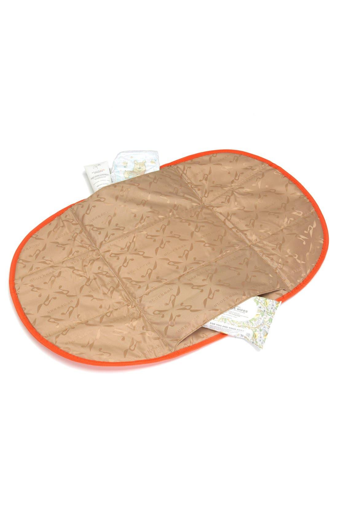 'Eden' Faux Leather Diaper Bag,                             Alternate thumbnail 4, color,                             GREY