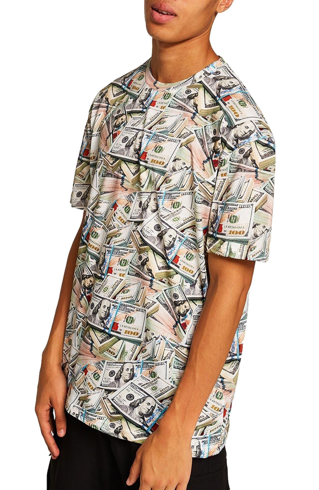 Money Print T-Shirt,                             Main thumbnail 1, color,                             300