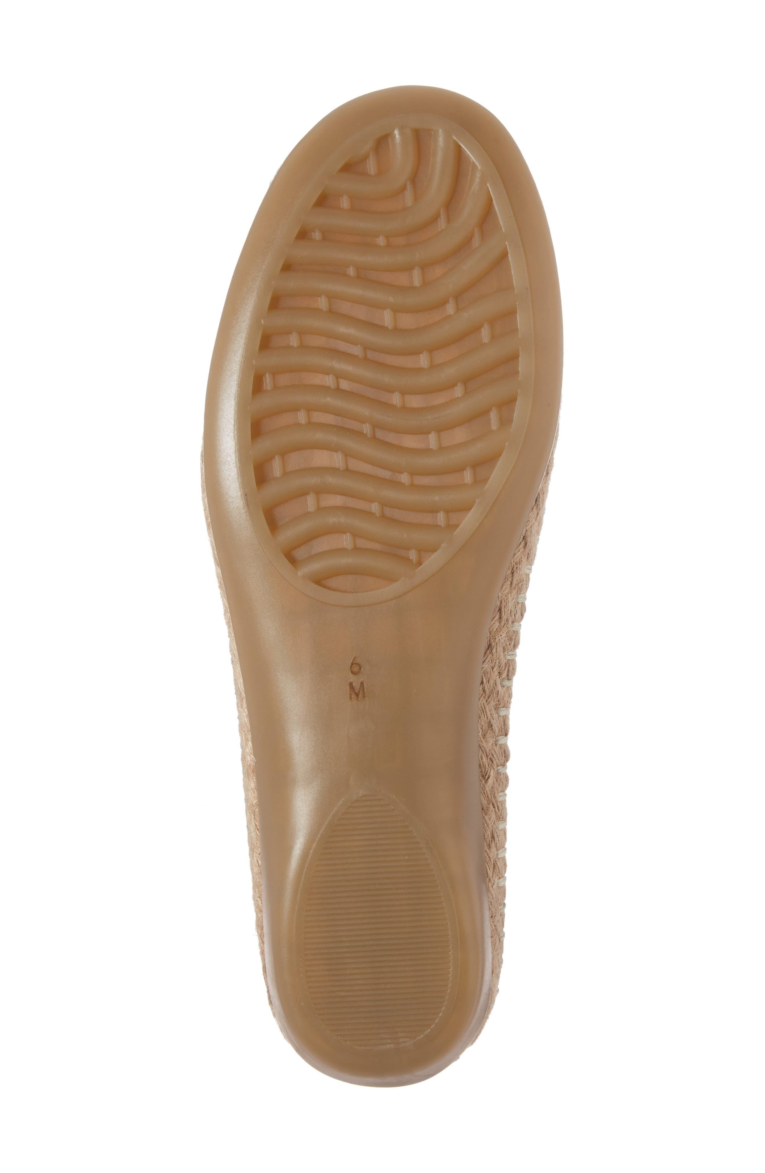 Nadette Espadrille Loafer Flat,                             Alternate thumbnail 6, color,                             001