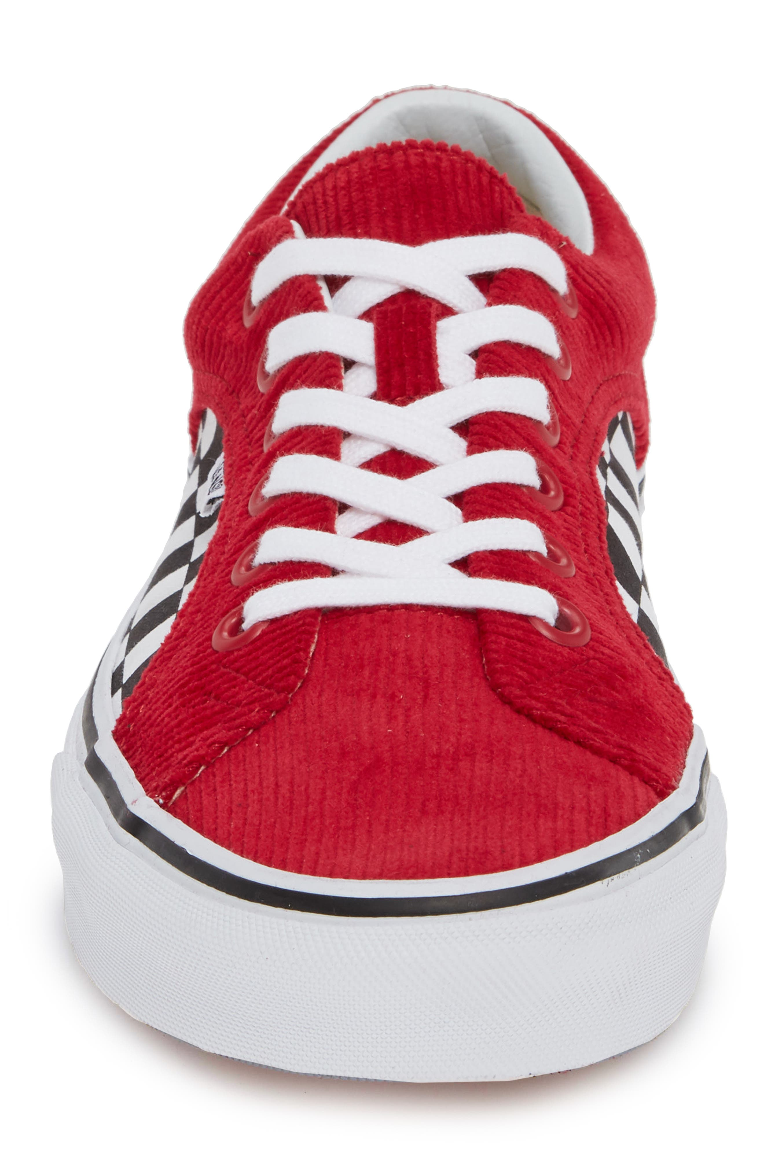 Lampin Corduroy Sneaker,                             Alternate thumbnail 4, color,                             SCOOTER/ TRUE WHITE CANVAS
