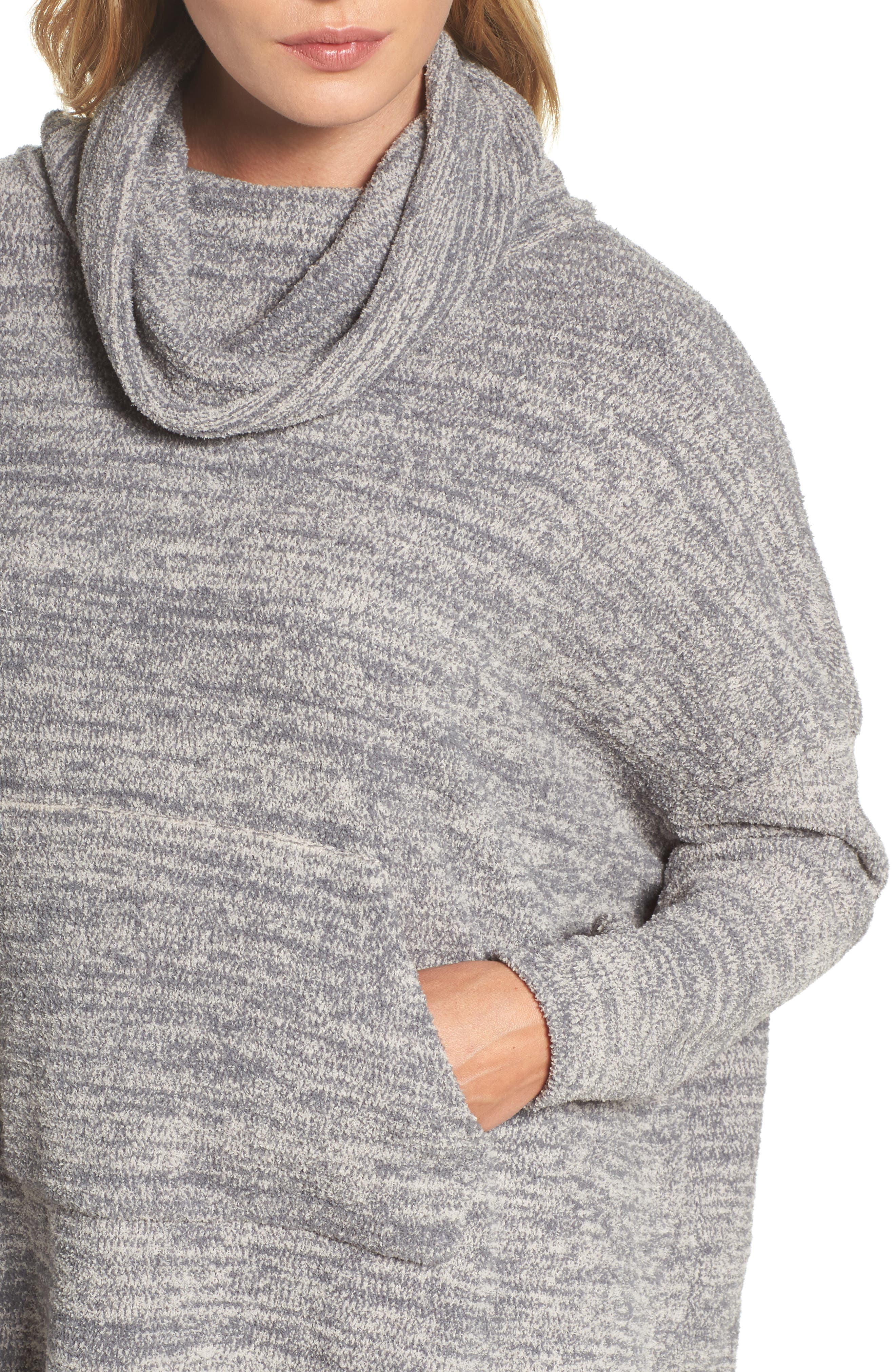 Cozychic<sup>®</sup> Lounge Pullover,                             Alternate thumbnail 4, color,                             GRAPHITE/ STONE HEATHERED