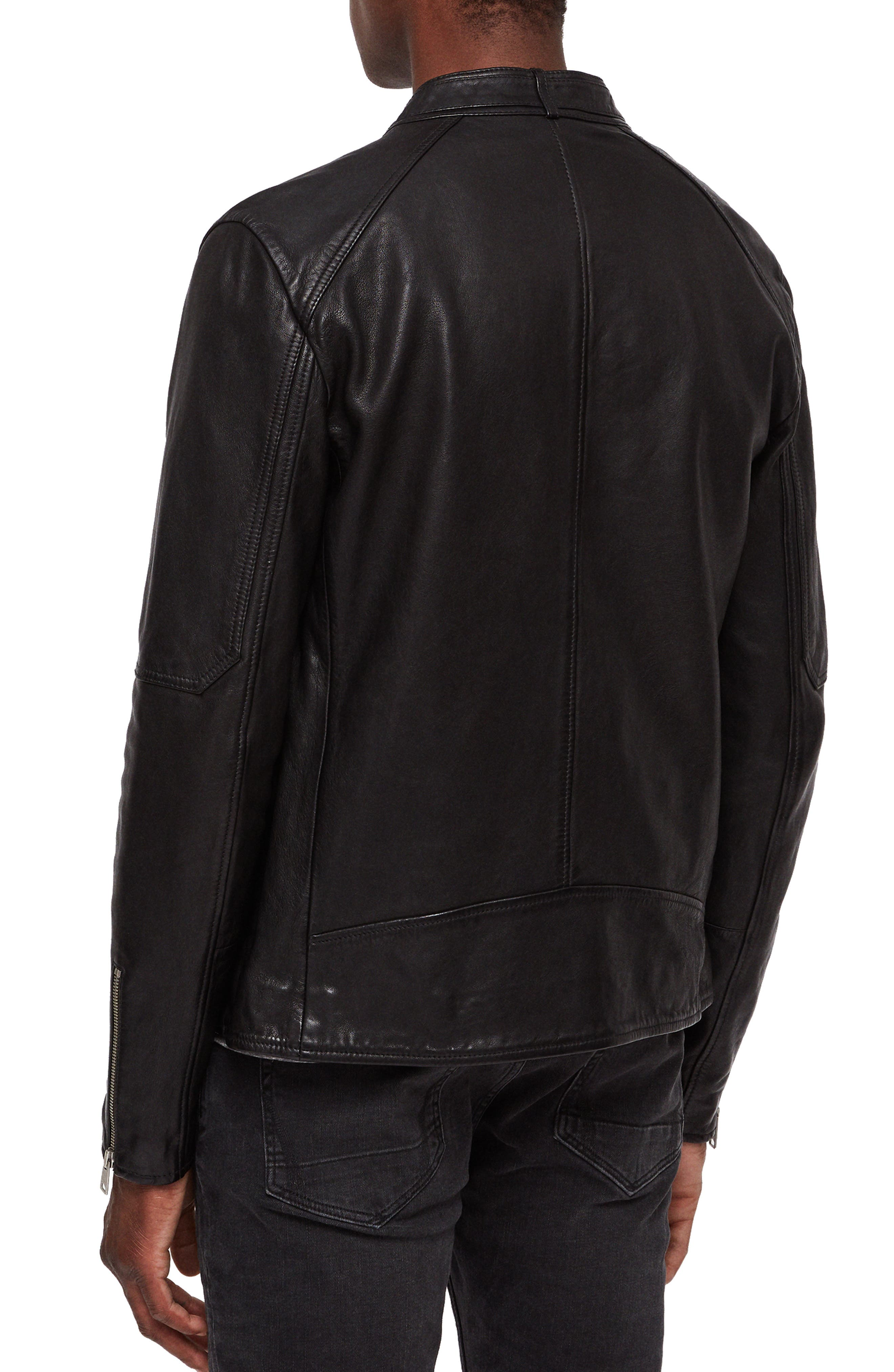 Cora Leather Jacket,                             Alternate thumbnail 2, color,                             003