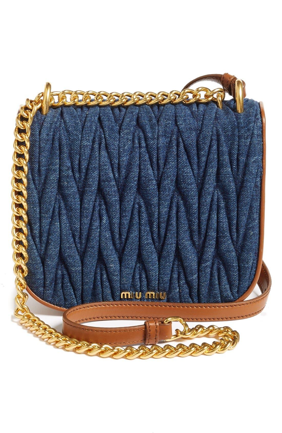 Matelassé Crossbody Bag,                             Alternate thumbnail 10, color,                             901