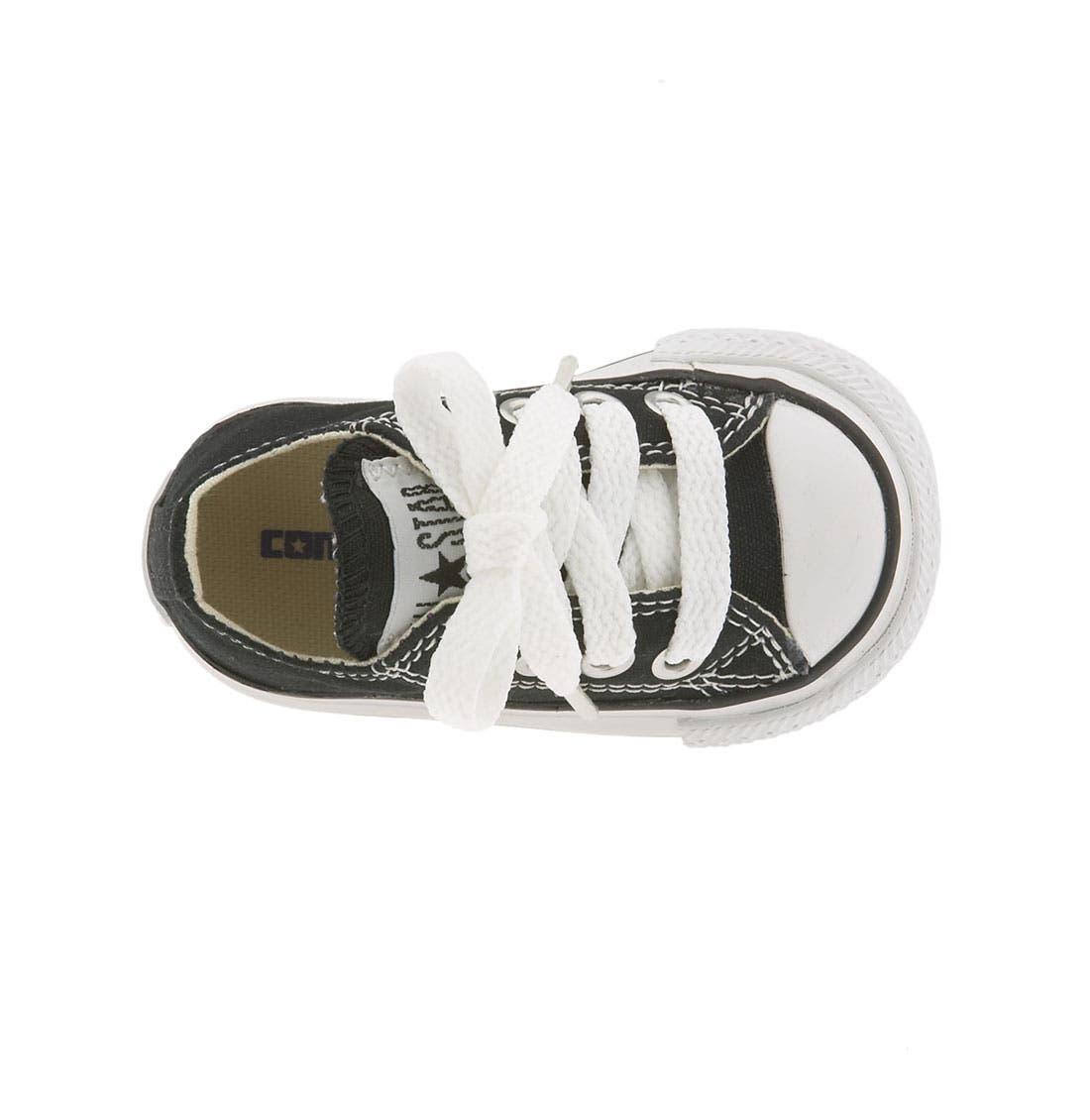 CONVERSE,                             Chuck Taylor<sup>®</sup> Low Top Sneaker,                             Alternate thumbnail 6, color,                             BLACK