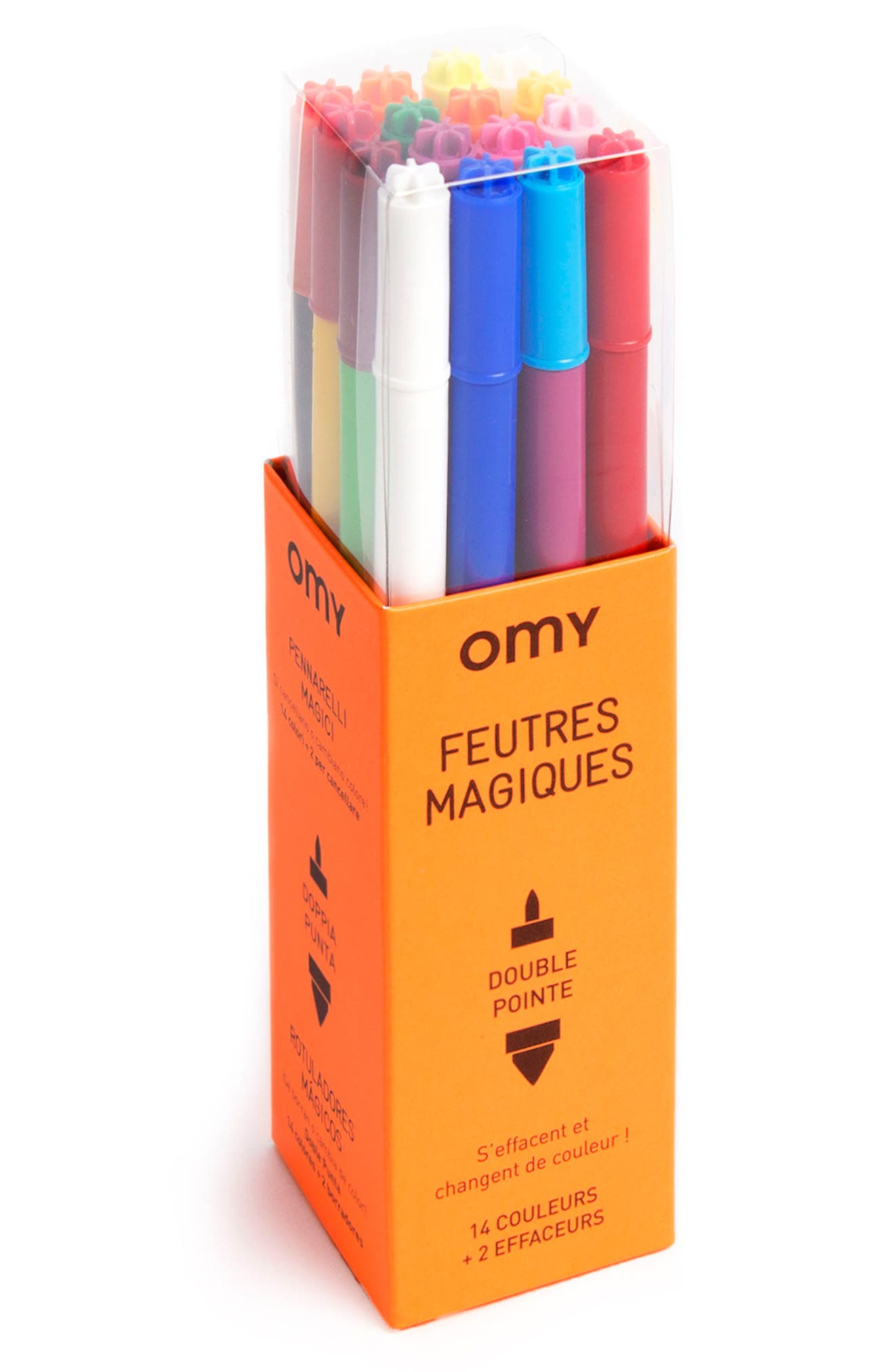Set of 16 Double-Point Magic Markers,                         Main,                         color, 800