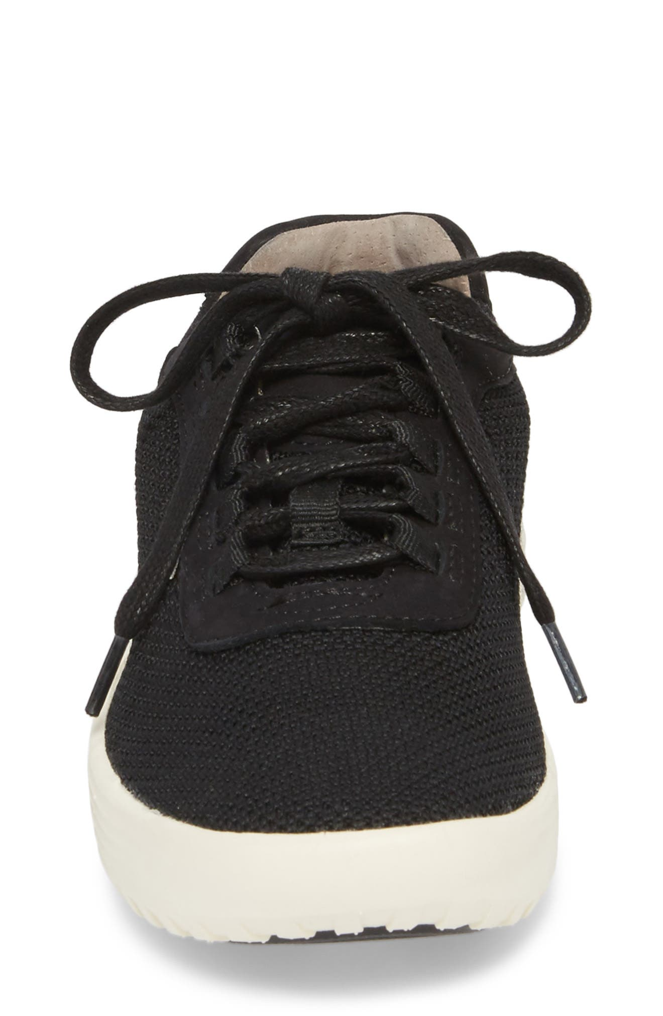 Malibu Sneaker,                             Alternate thumbnail 4, color,                             BLACK KNIT FABRIC