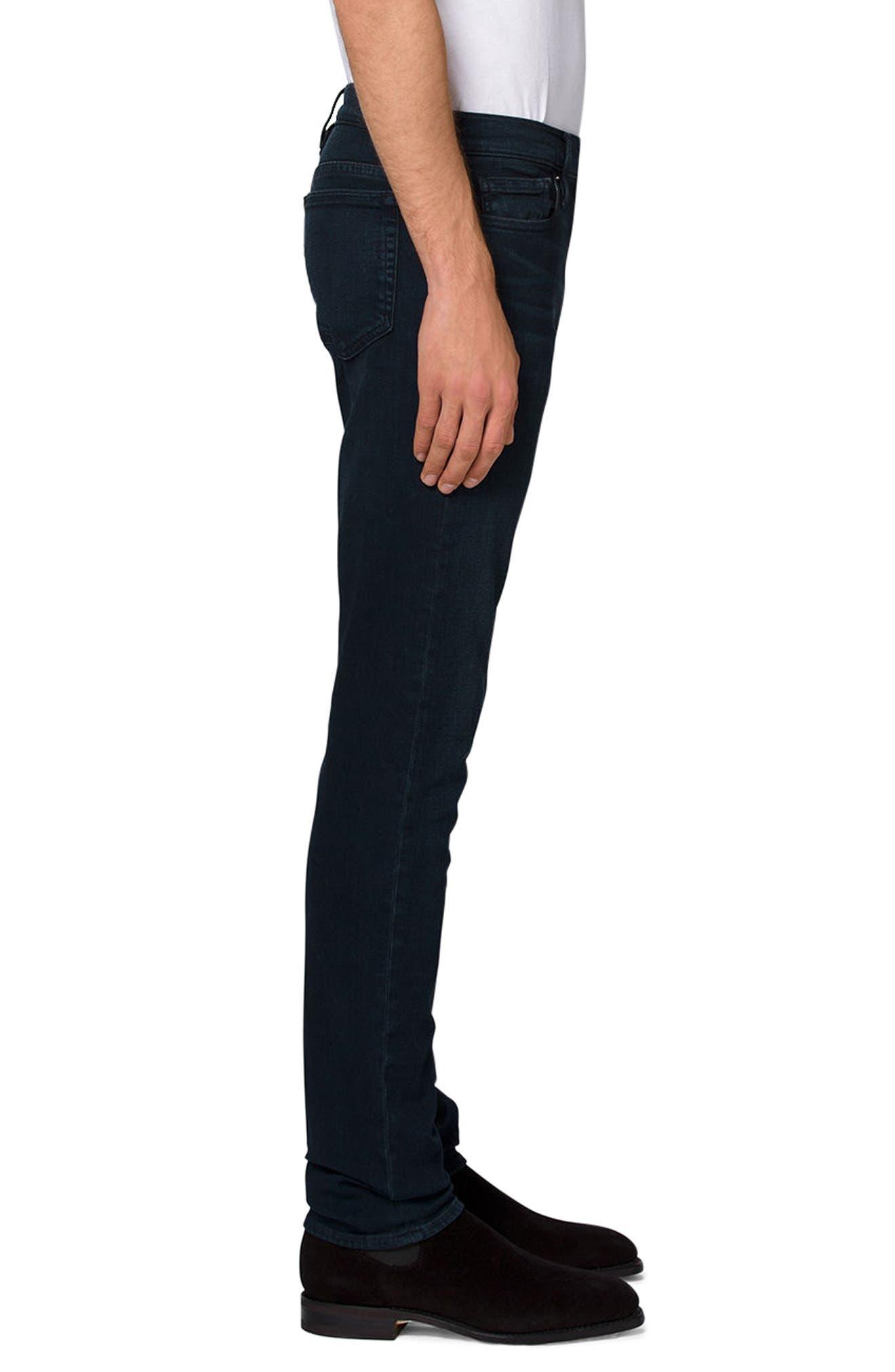 'L'Homme' Slim Fit Jeans,                             Alternate thumbnail 3, color,                             PLACID