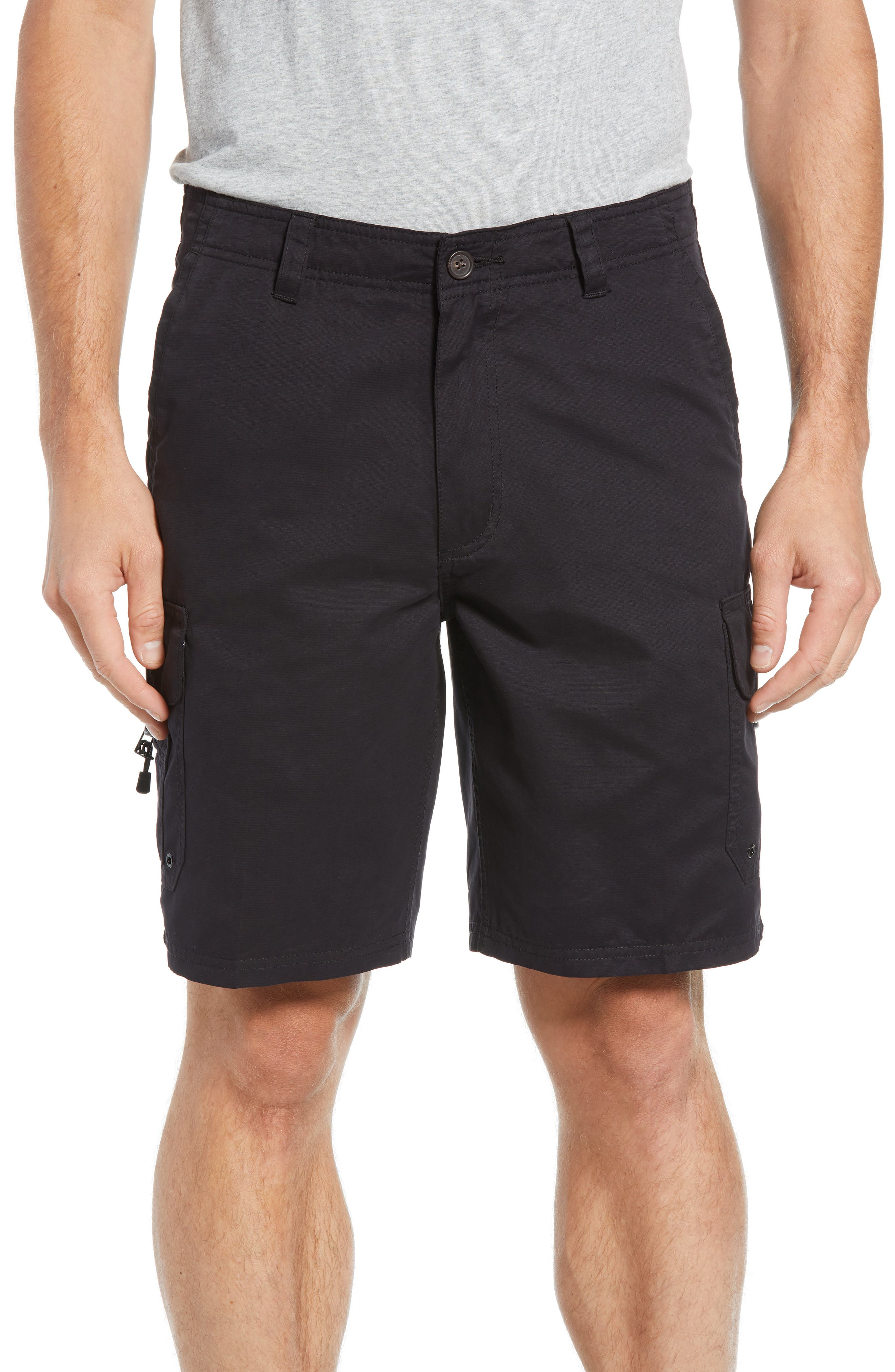 Quiksilver Waterman Collection Maldive Regular Fit Cargo Shorts, Black