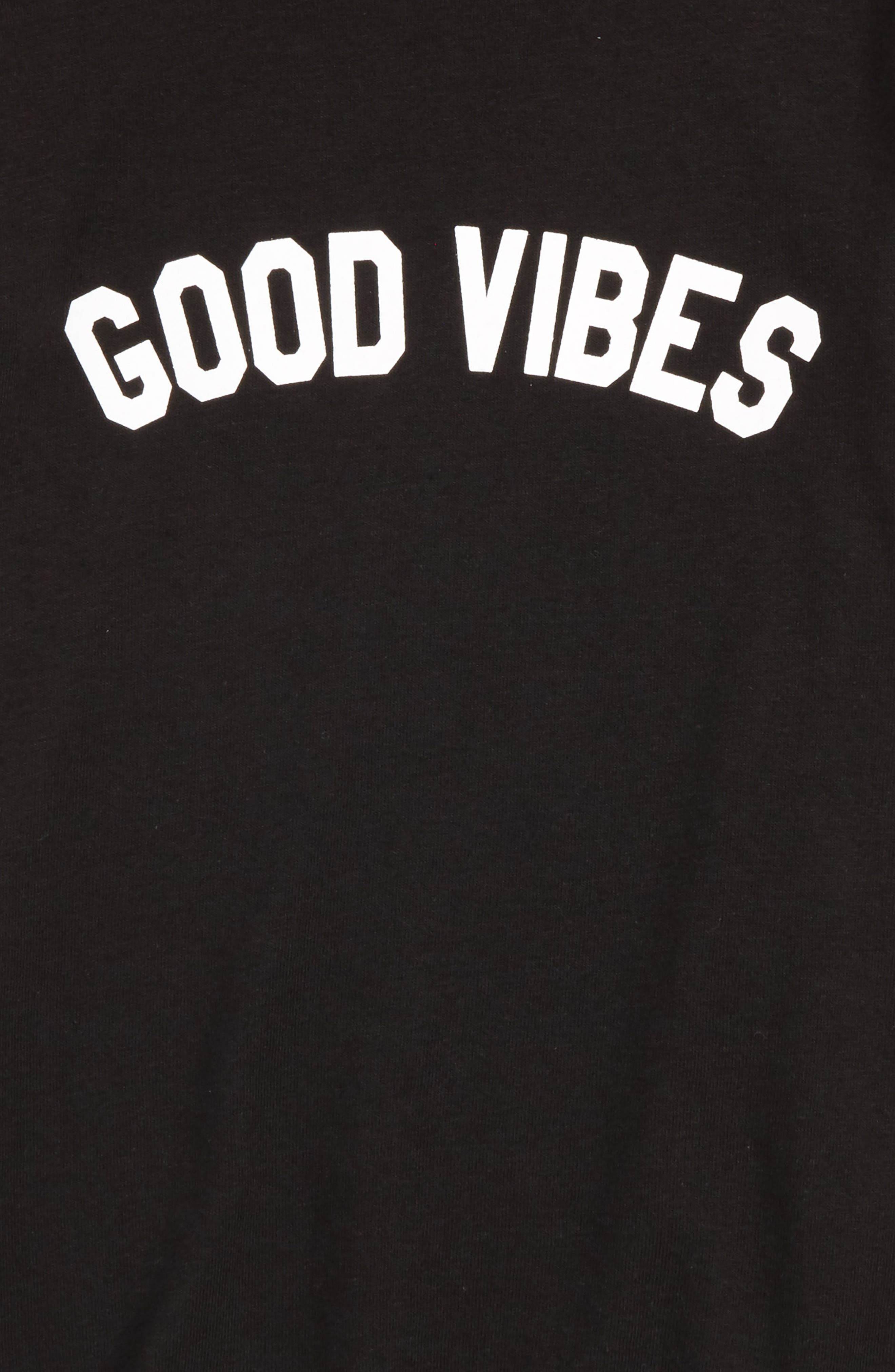 Good Vibes Graphic Tee,                             Alternate thumbnail 2, color,                             001