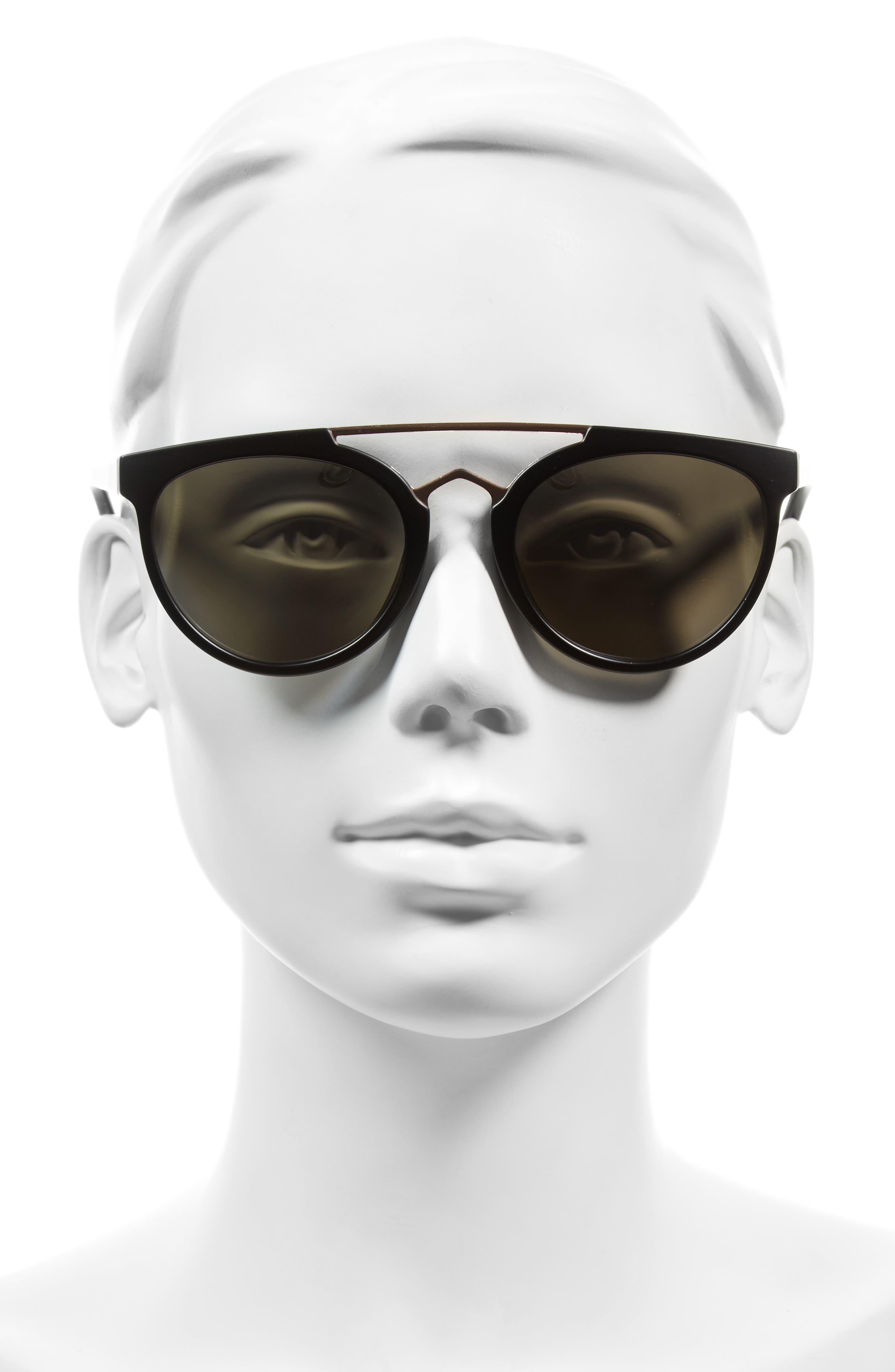 Rose 53mm Retro Sunglasses,                             Alternate thumbnail 5, color,