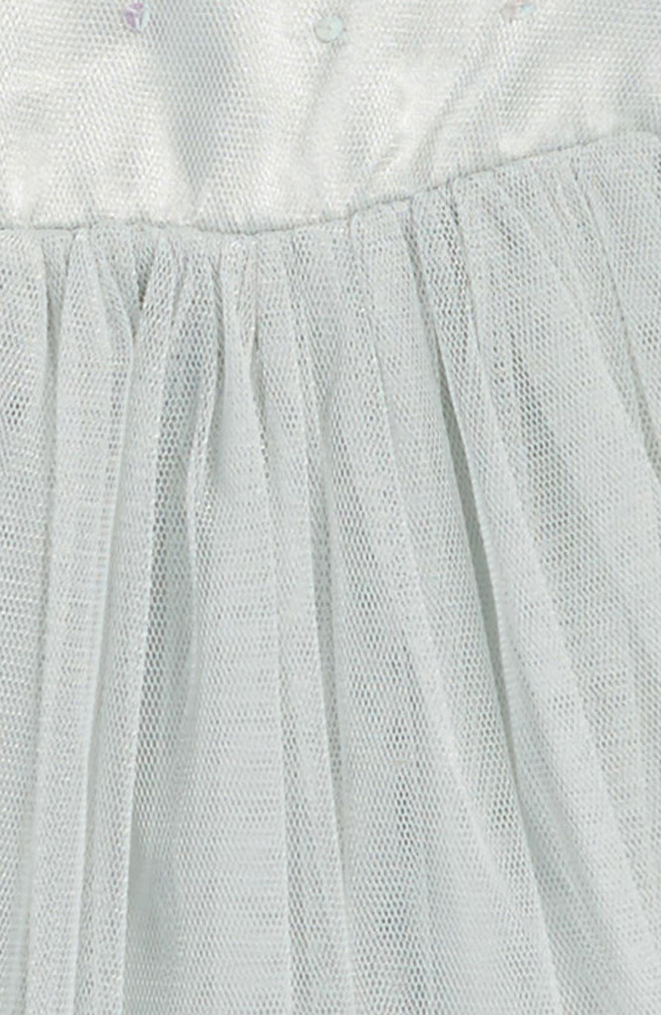 Empire Waist Tulle Dress,                             Alternate thumbnail 3, color,                             325