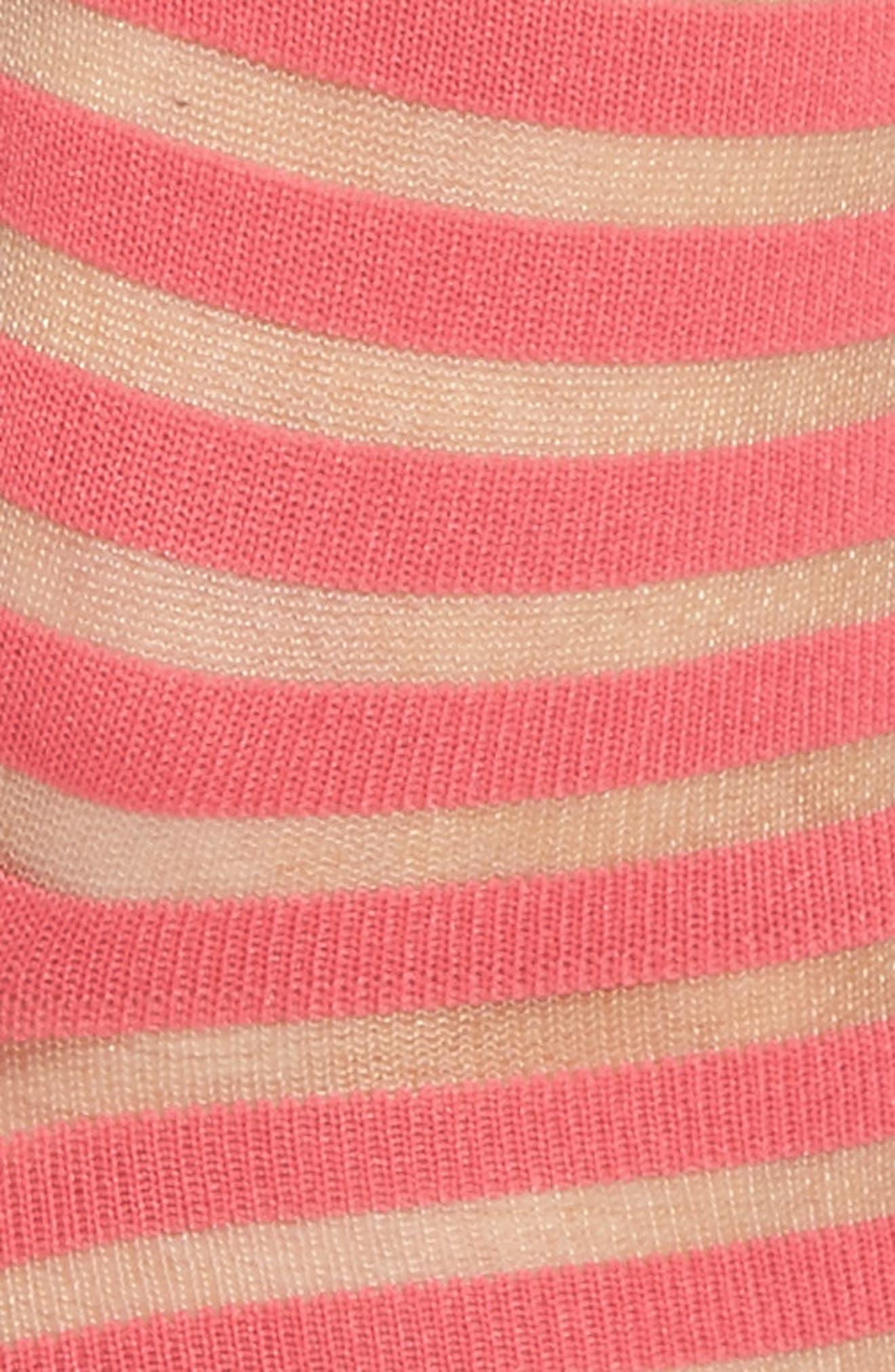 sheer stripe ankle socks,                             Alternate thumbnail 8, color,