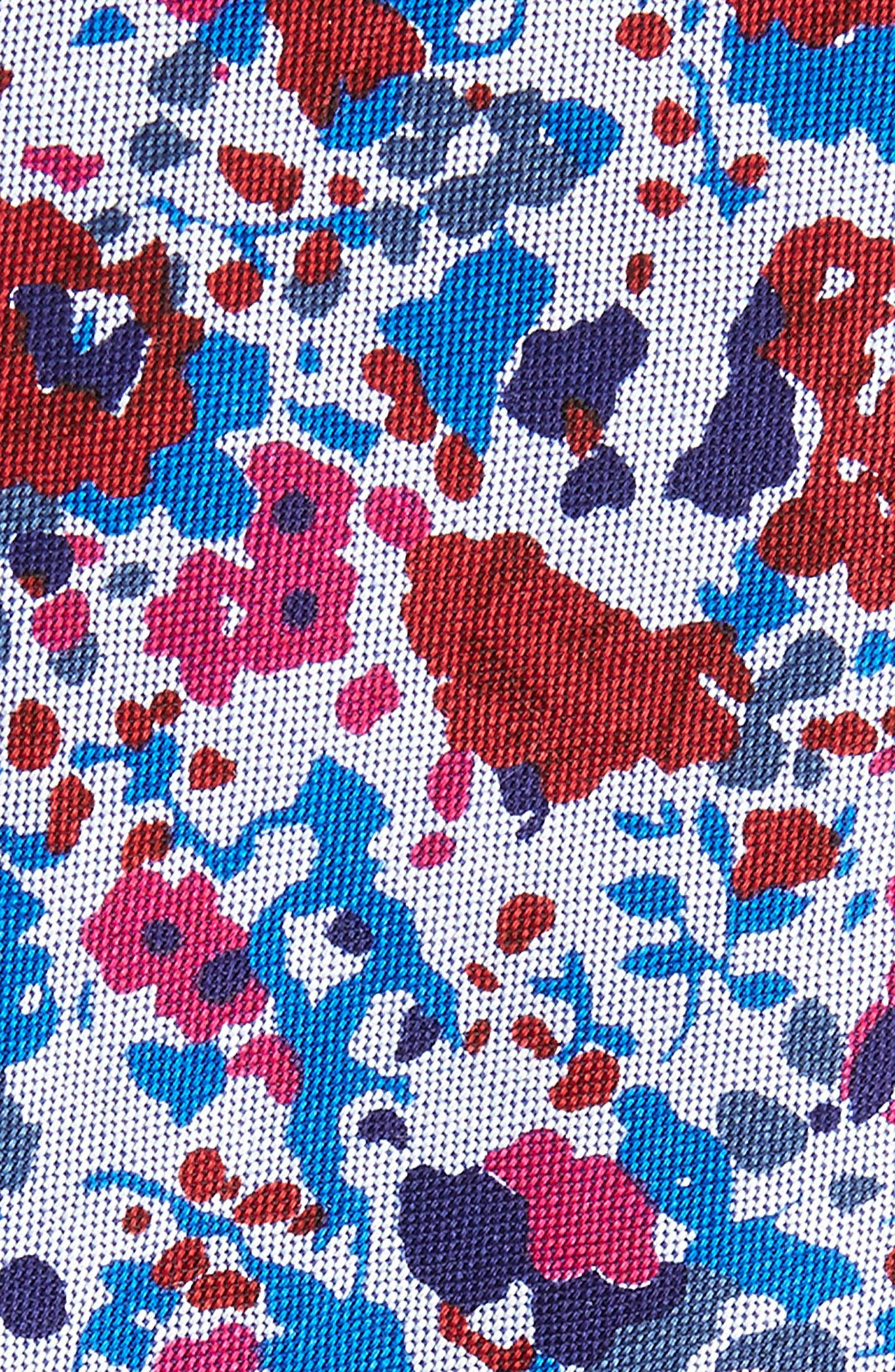 Ajax Floral Cotton Skinny Tie,                             Alternate thumbnail 2, color,                             600
