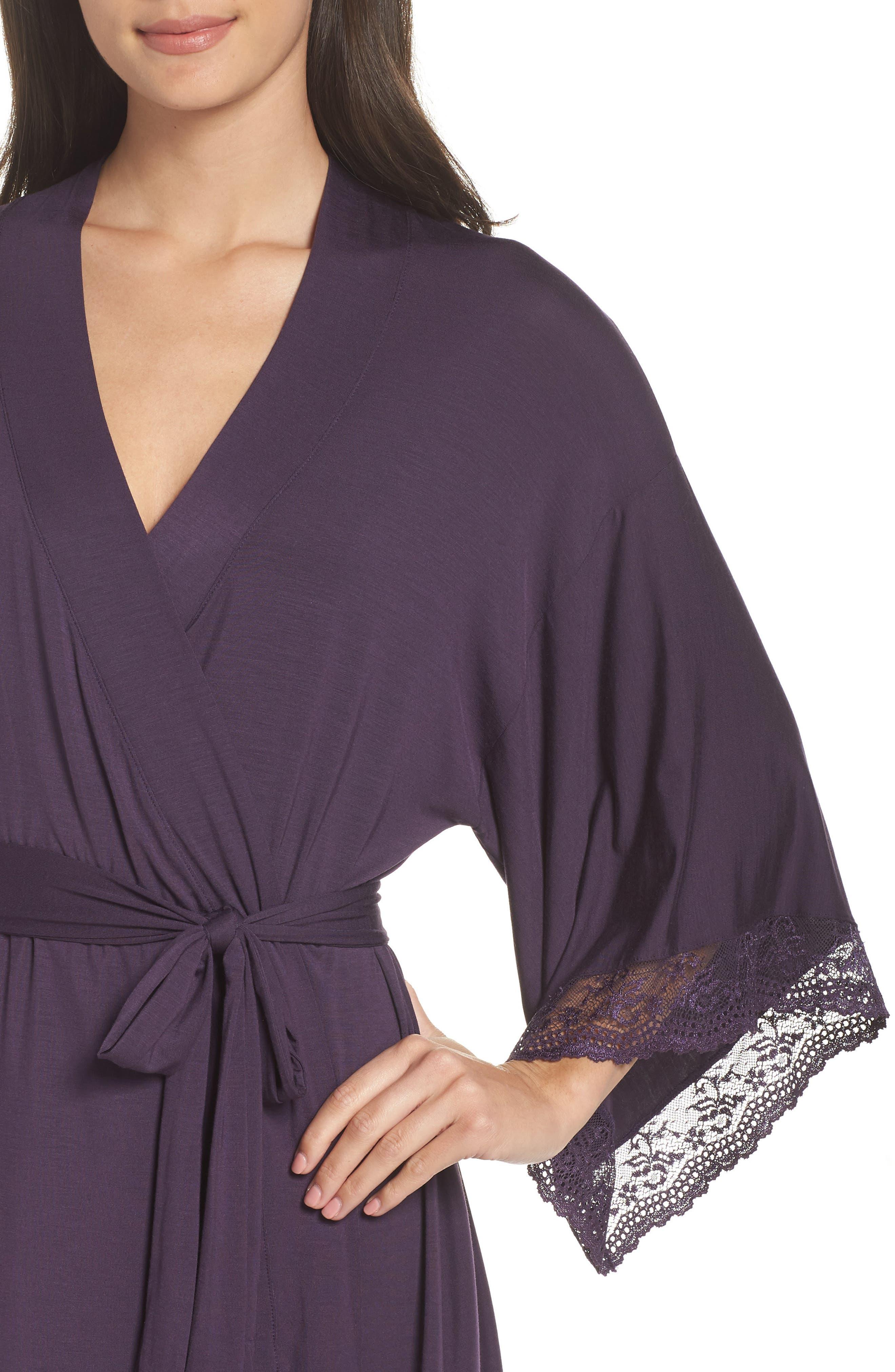 EBERJEY,                             'Colette' Kimono Robe,                             Alternate thumbnail 4, color,                             MYSTERIOSO