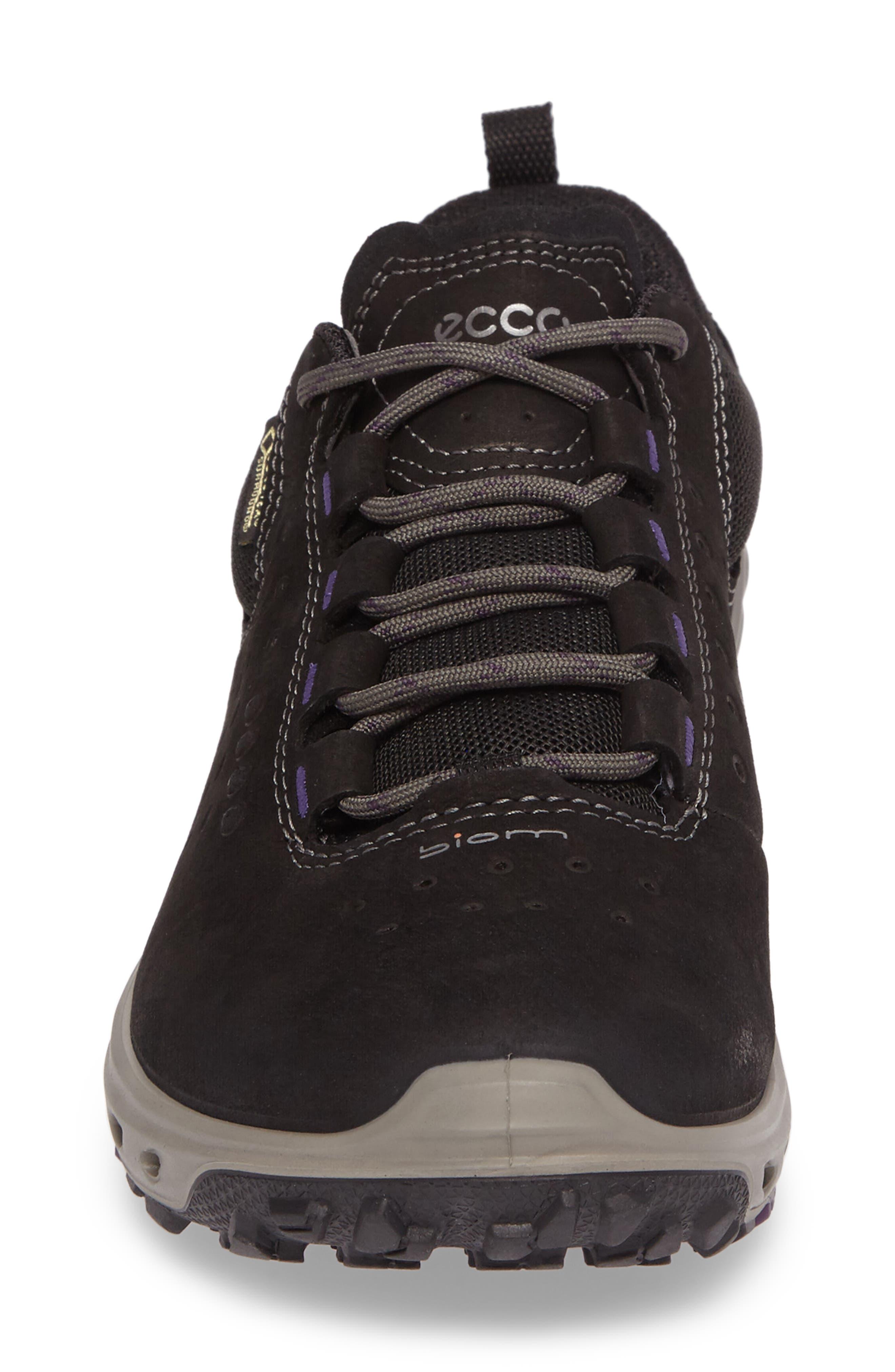 BIOM Venture GTX Sneaker,                             Alternate thumbnail 4, color,                             BLACK LEATHER