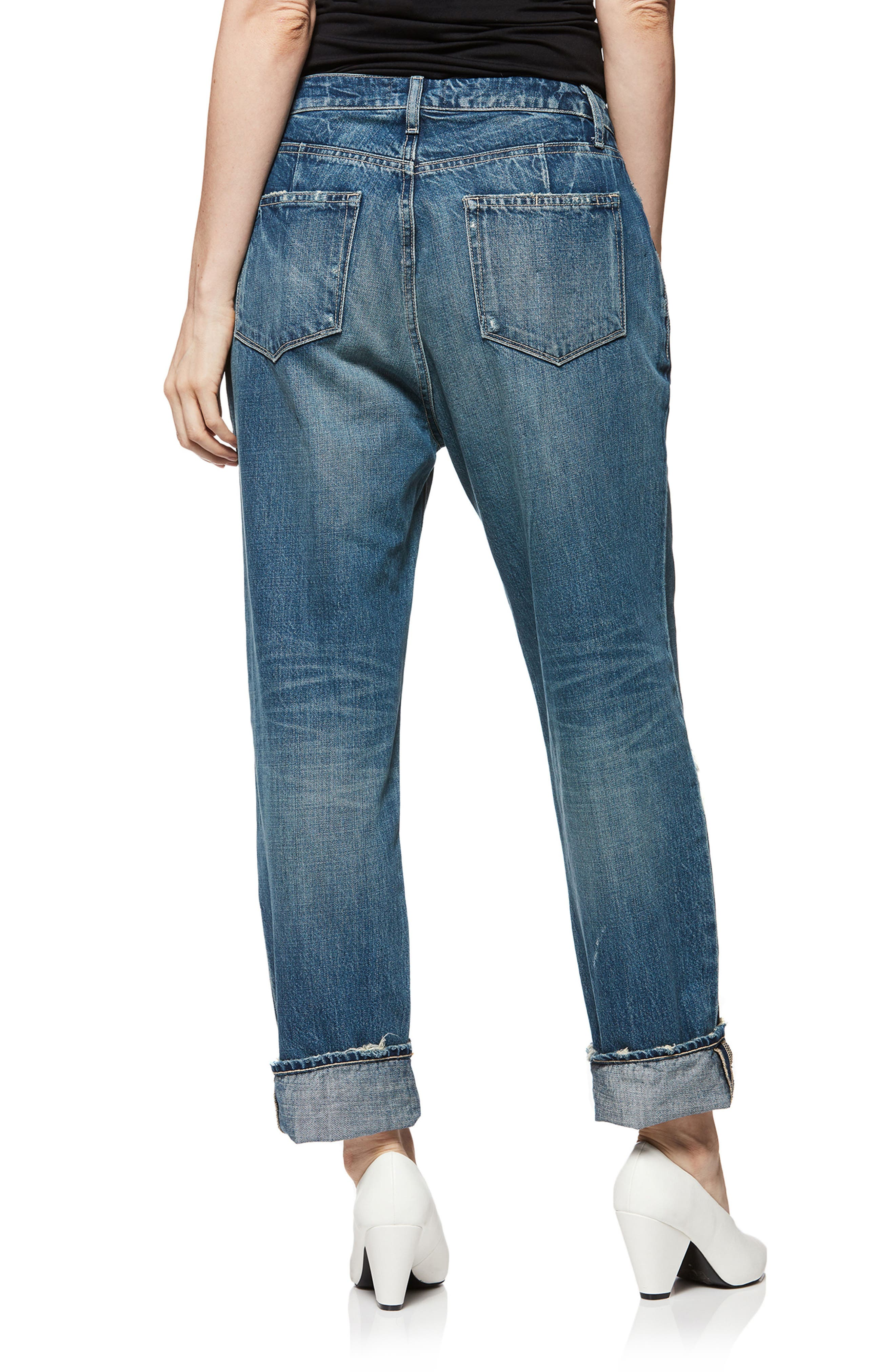 Mikey Mike Ripped Boyfriend Jeans,                             Alternate thumbnail 2, color,                             400