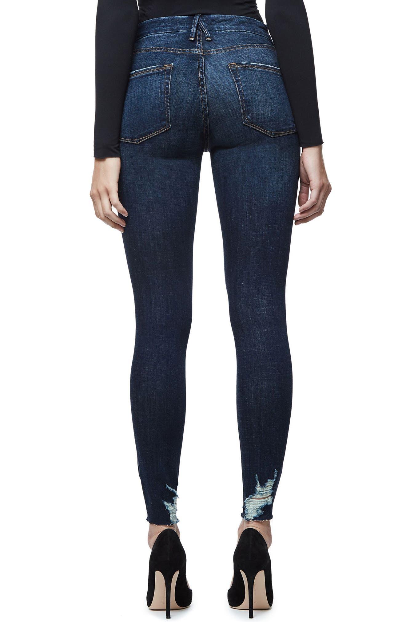 Good Legs Raw Hem Skinny Jeans,                             Alternate thumbnail 2, color,                             401