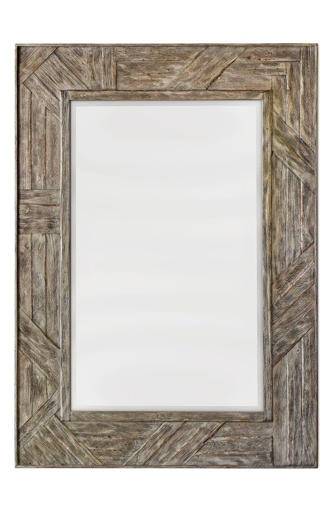 'Fortuo' Mahogany Wood Mirror,                             Main thumbnail 1, color,                             200