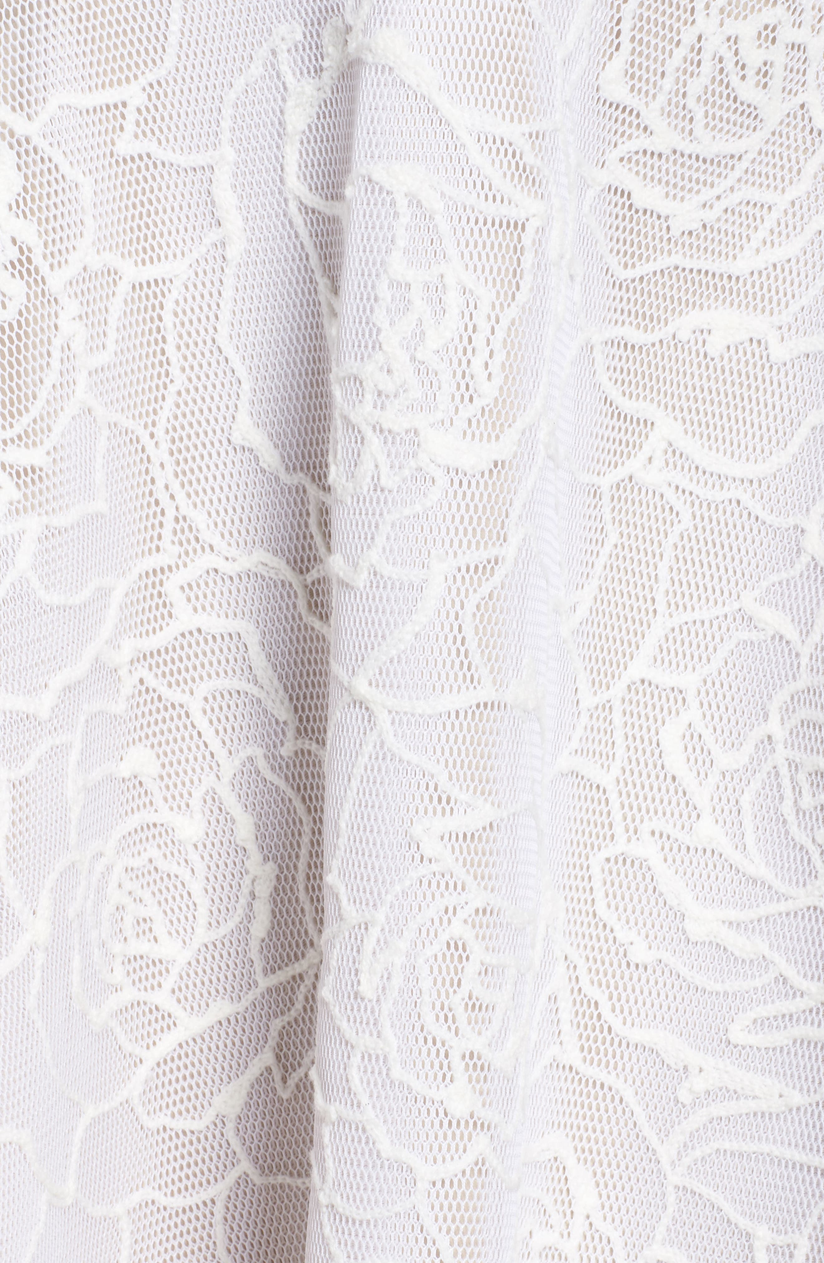 Bonded Mesh High/Low Dress,                             Alternate thumbnail 5, color,                             900