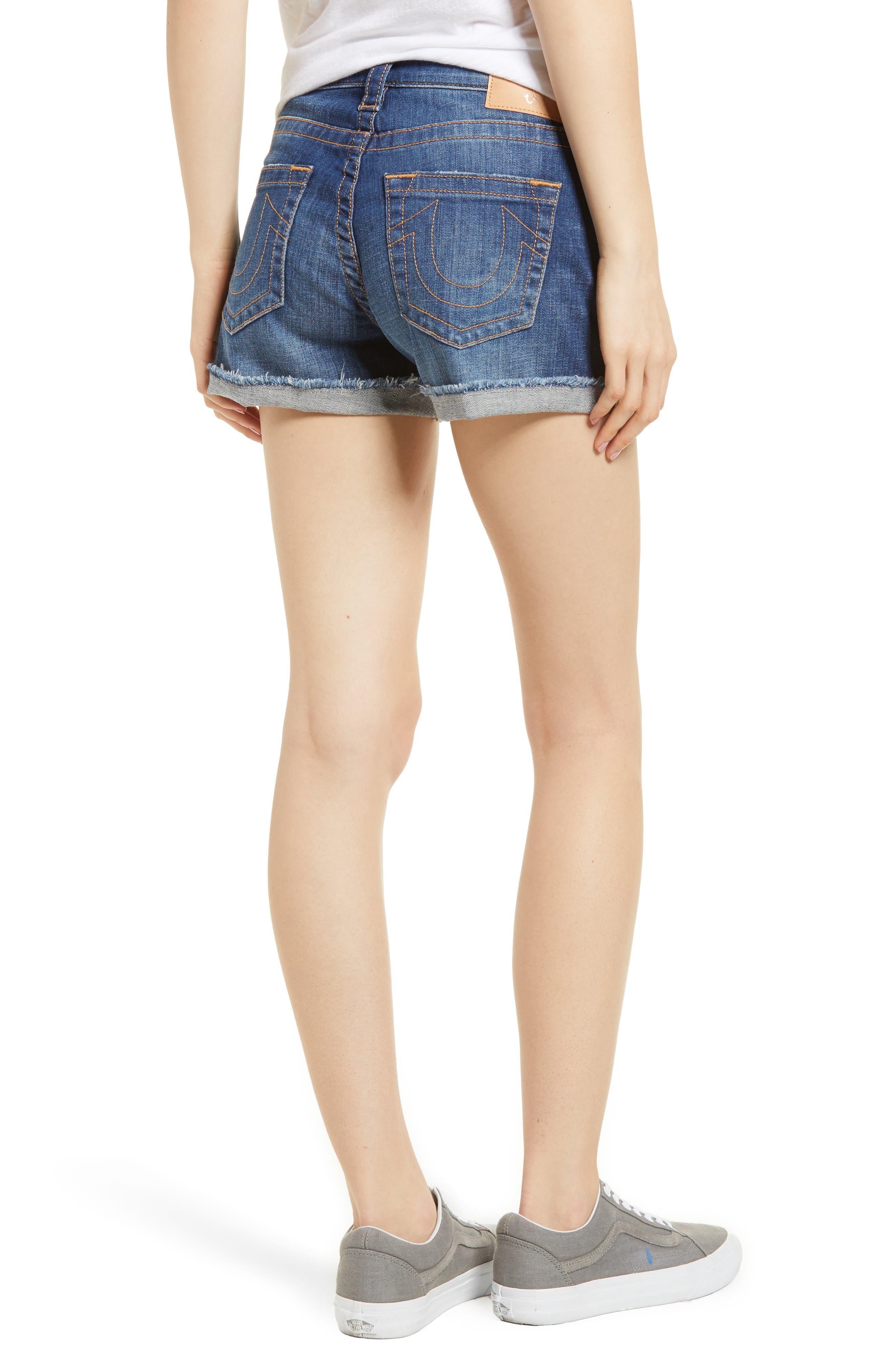 Jennie Curvy Denim Shorts,                             Alternate thumbnail 2, color,                             402