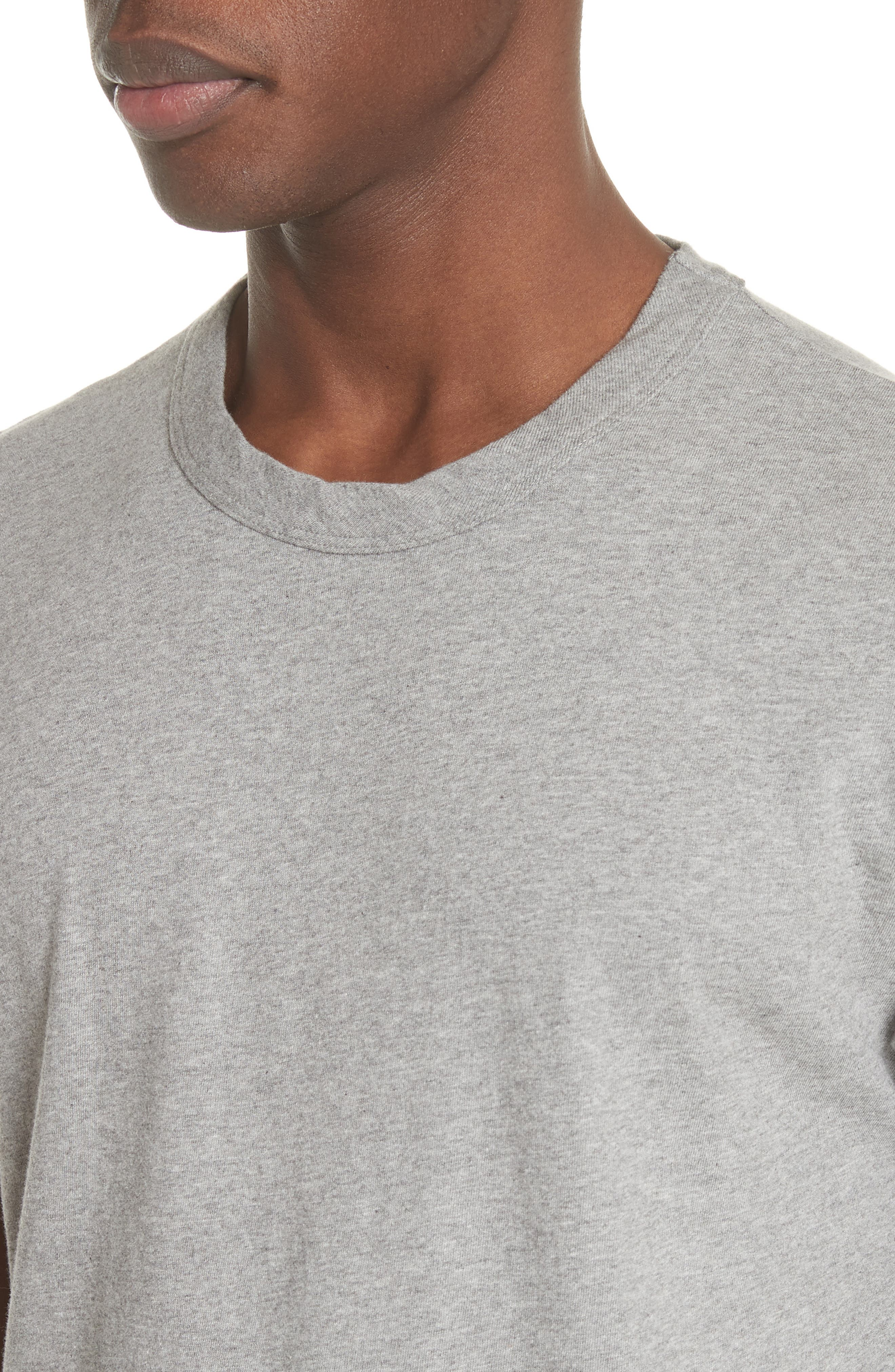 Perfect T-Shirt,                             Alternate thumbnail 4, color,                             GREY MELANGE