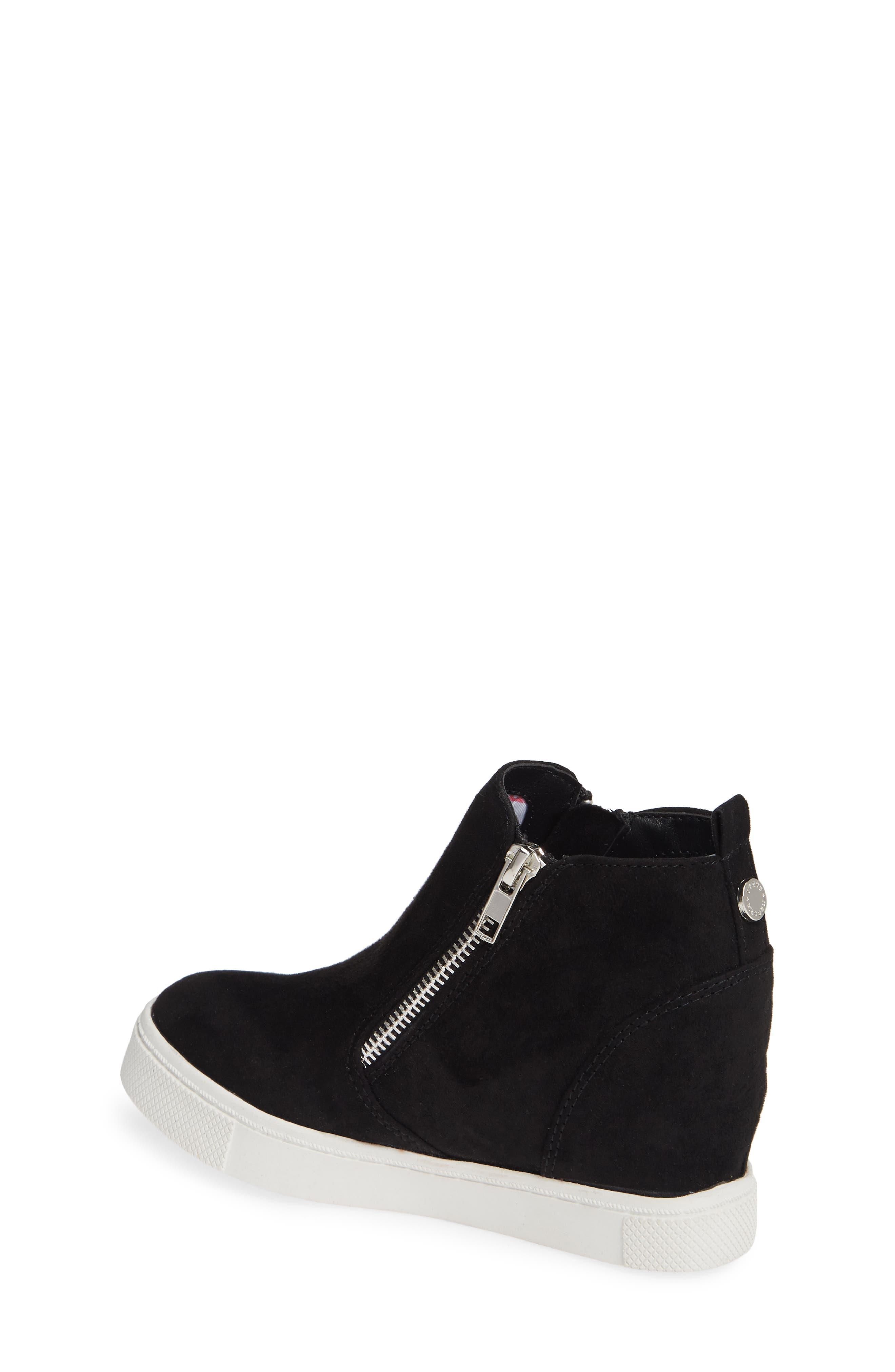Wedgie Hidden Wedge Sneaker,                             Alternate thumbnail 2, color,                             BLACK