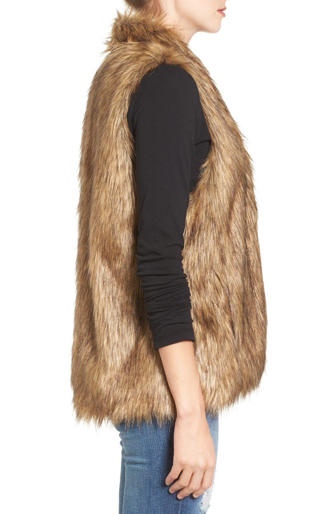 Faux Fur Vest,                             Alternate thumbnail 3, color,                             250