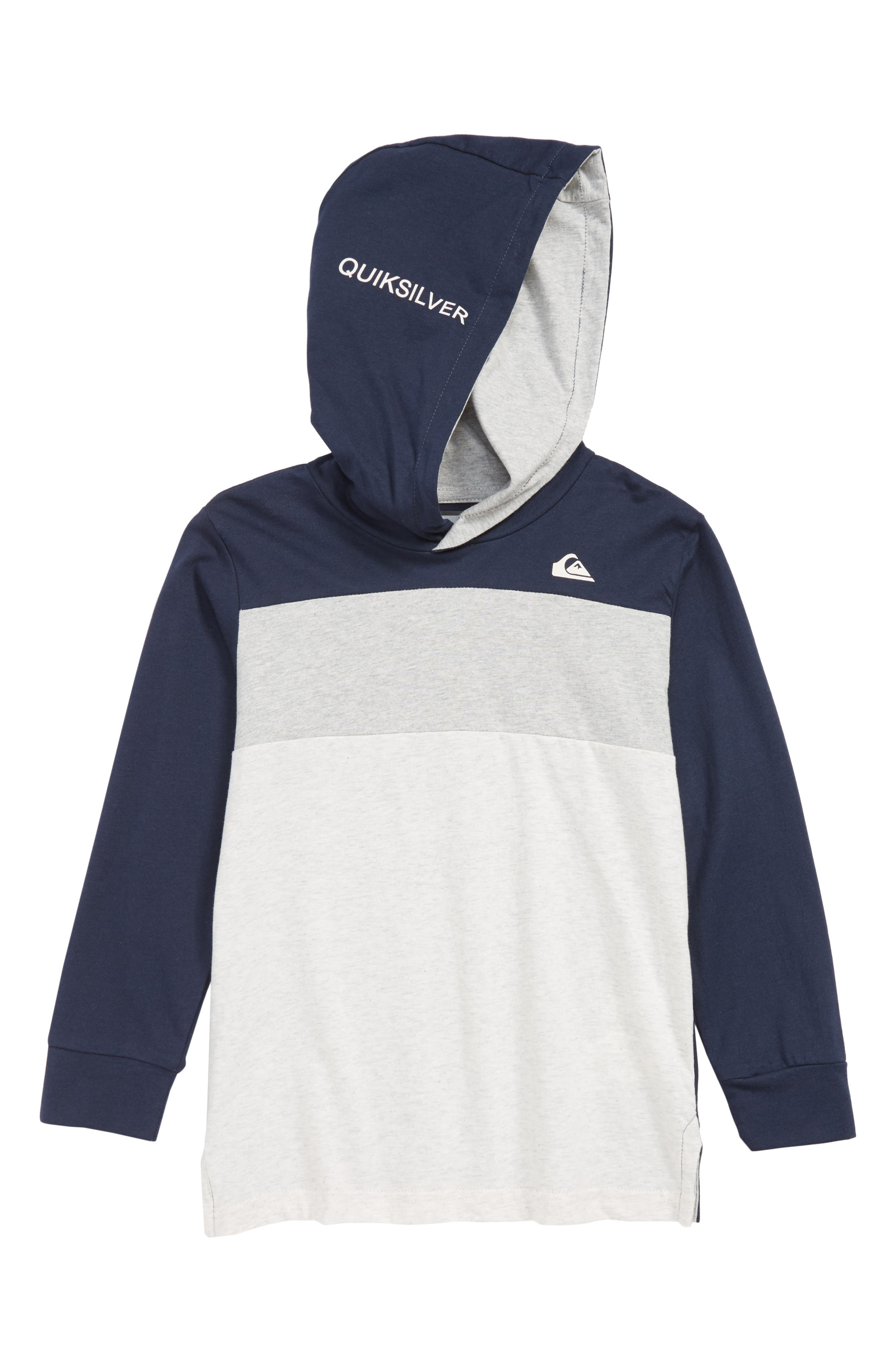 QUIKSILVER So Nice Twice Hooded Pullover, Main, color, NAVY BLAZER HEATHER