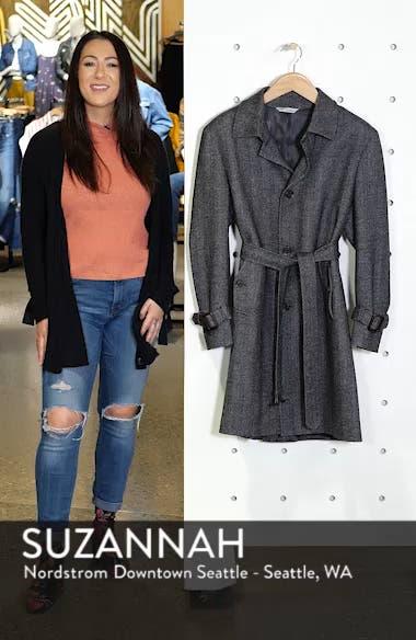 Zelander Herringbone Wool Blend Coat, sales video thumbnail