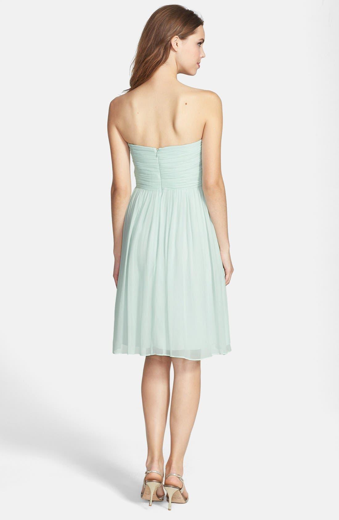 'Morgan' Strapless Silk Chiffon Dress,                             Alternate thumbnail 84, color,