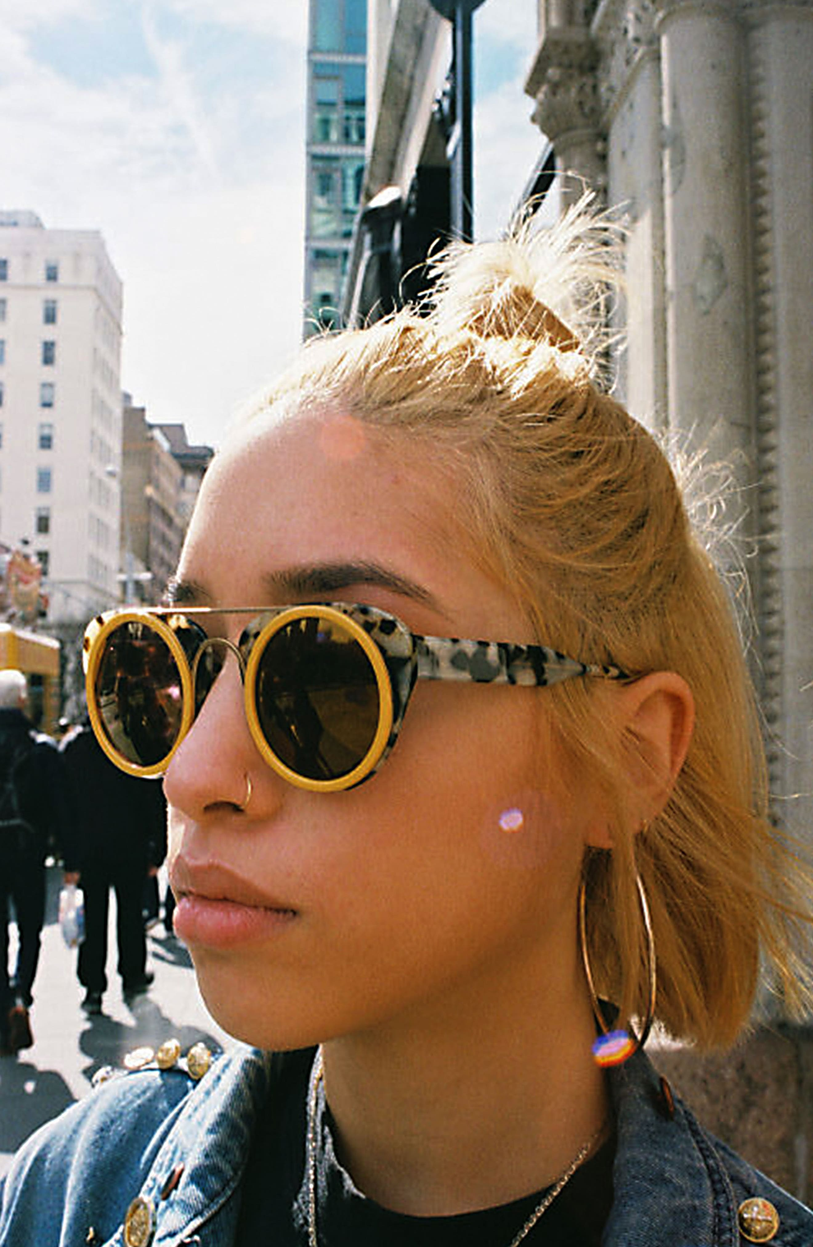Soda Pop 3 47mm Round Sunglasses,                             Alternate thumbnail 4, color,                             BURGUNDY/ BURGUNDY/ GOLD